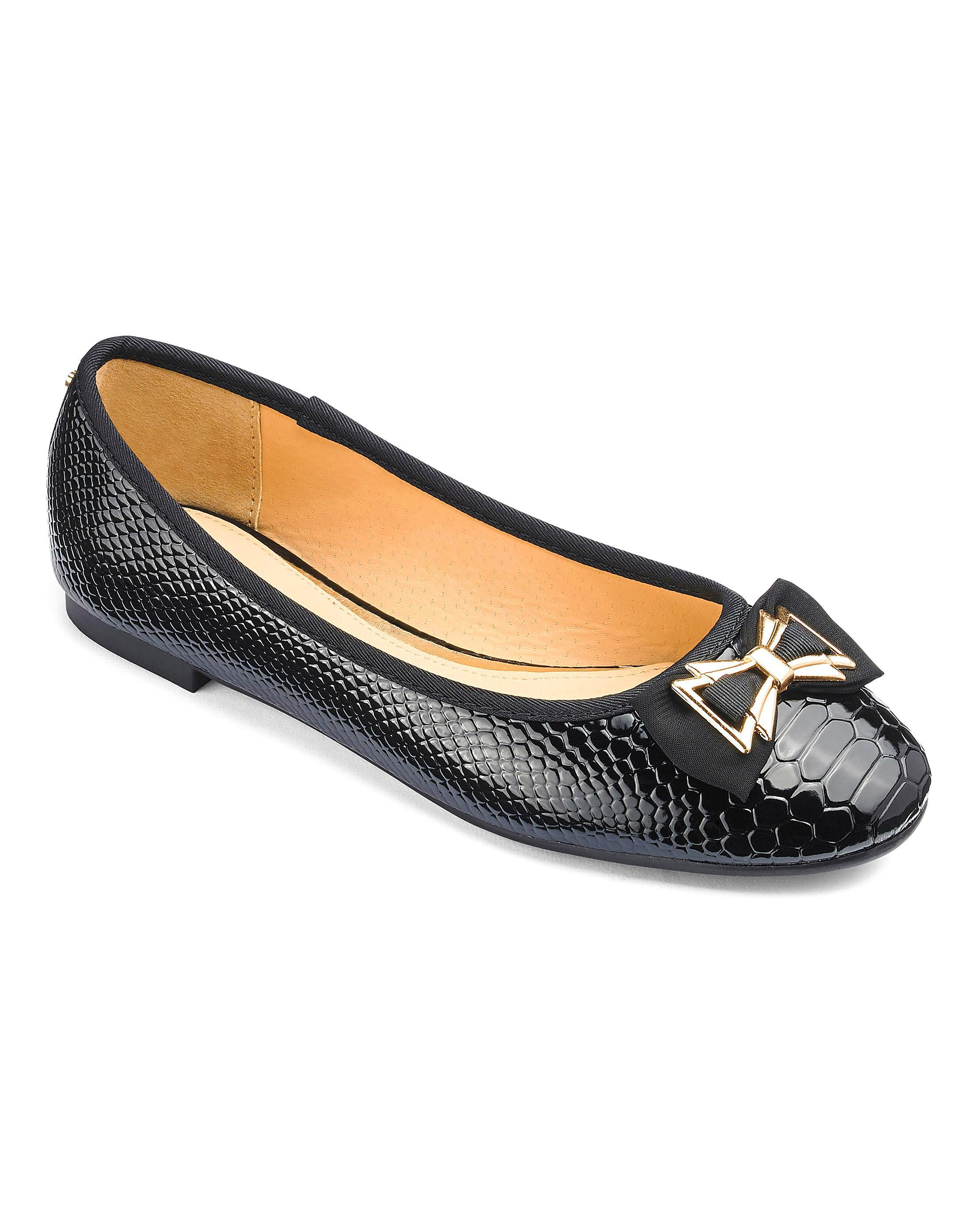 ff0a3a7c051c Lyst - Simply Be Head Over Heels By Dune Haze Ballerina Standard Fit