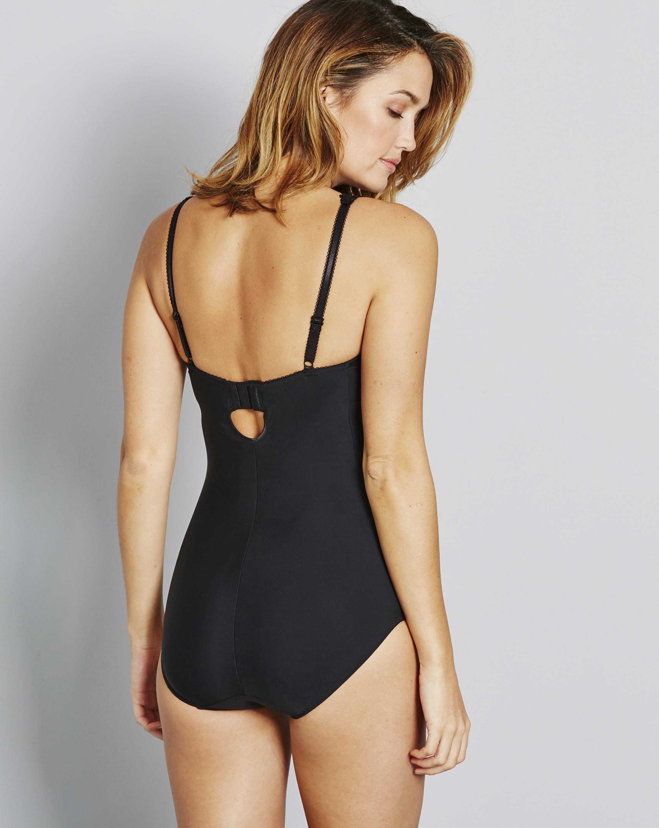 0f43d88565d1c Lyst - Simply Be Magisculpt Ella Lace Light Control Bodyshaper in Black