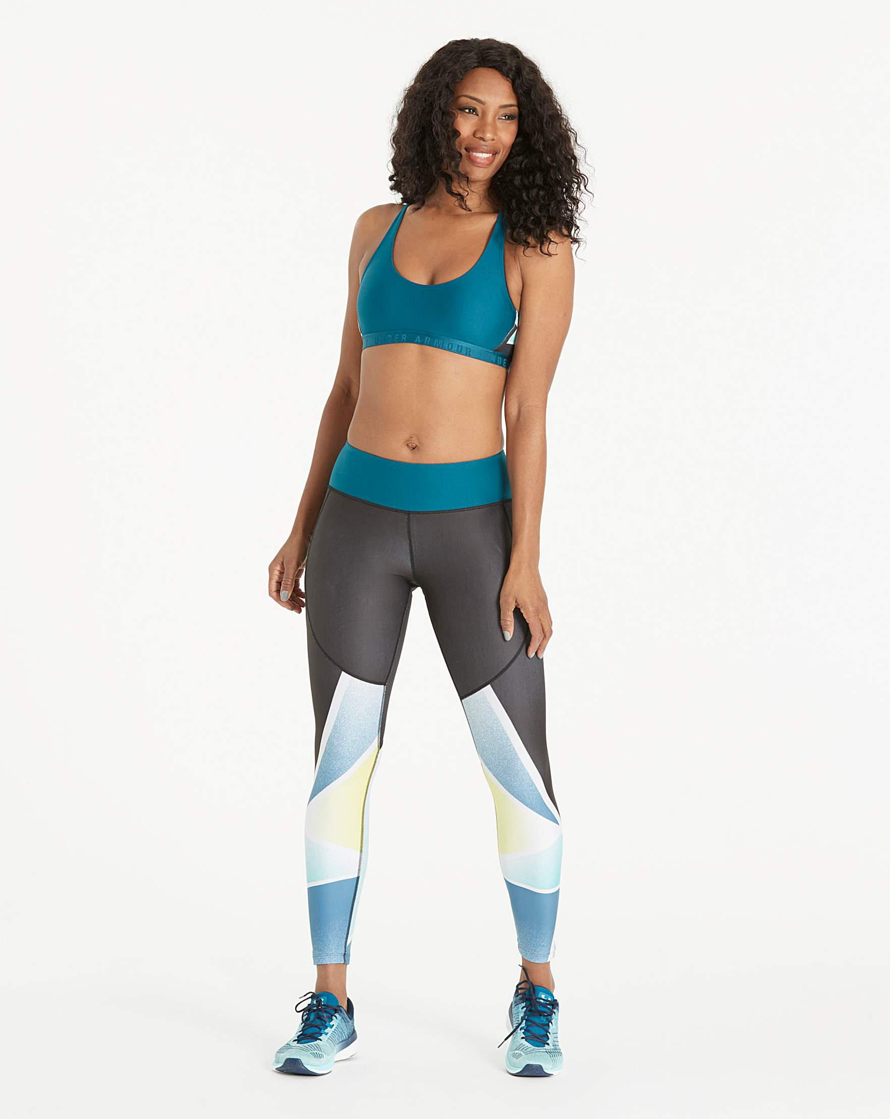 31e7909d37149 Under Armour Cut Out Print Bralette in Blue - Lyst
