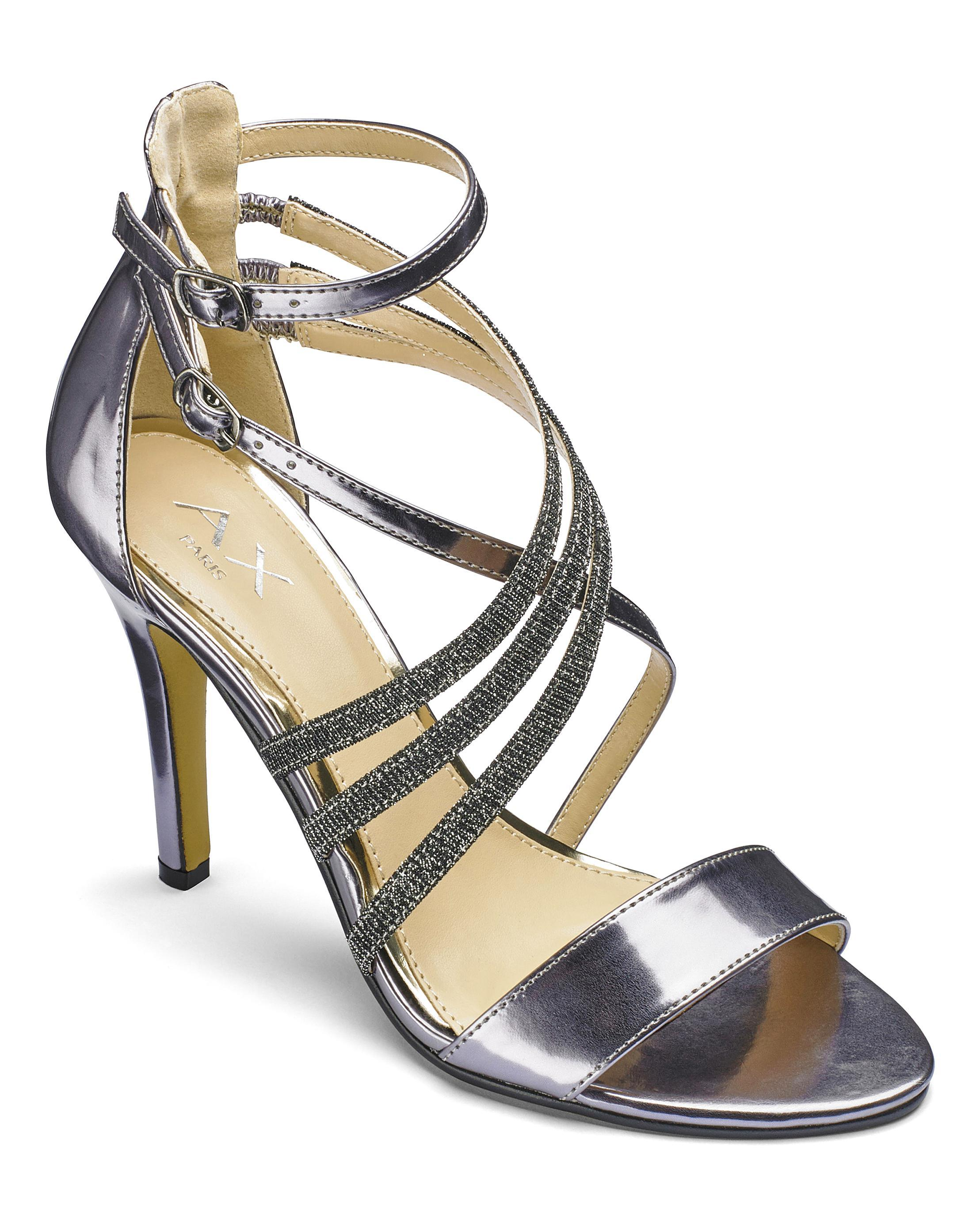 27f8d27a8de Lyst - Simply Be Ax Paris Strappy Sandals in Gray