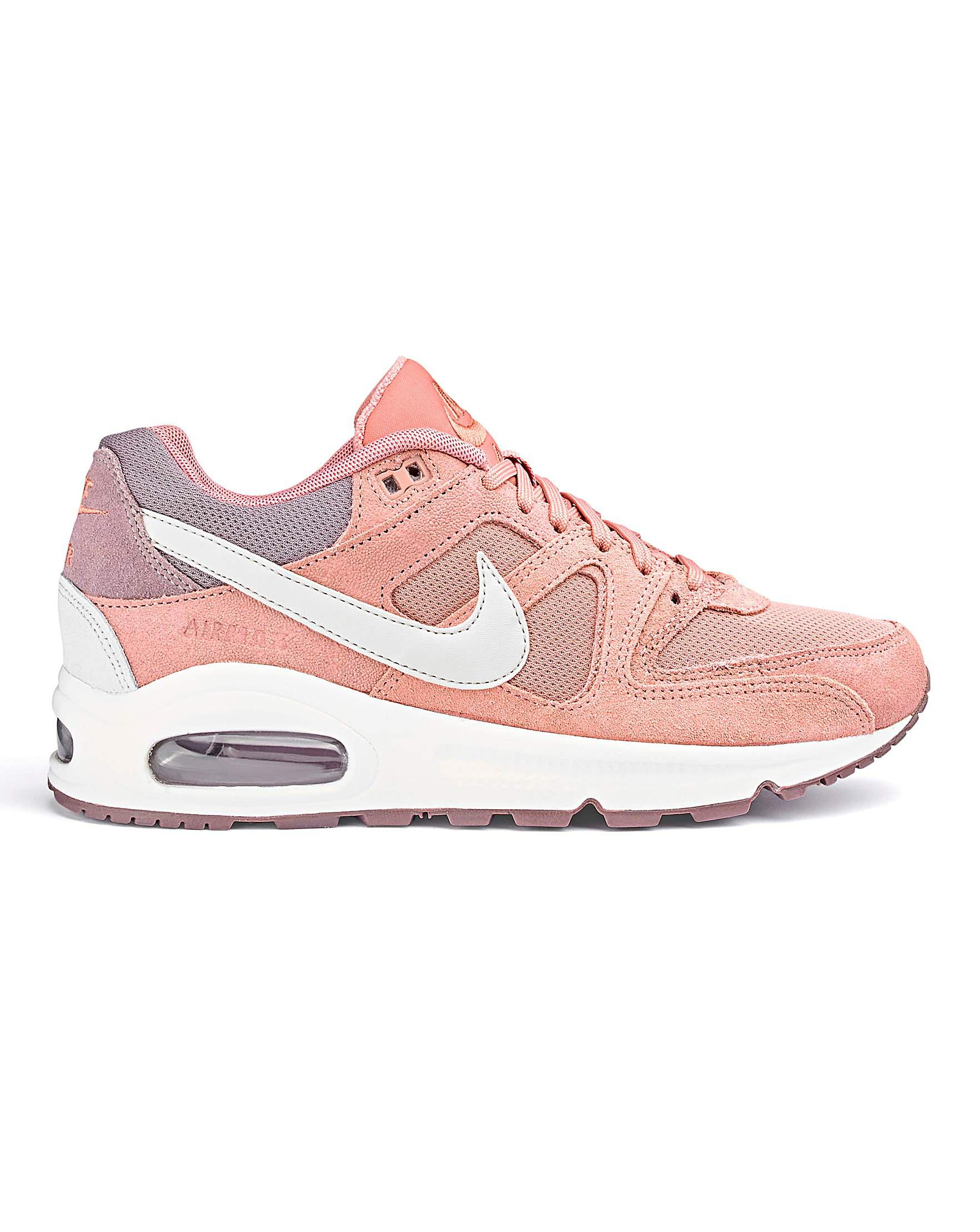 Nike Leather Air Max Command Womens Trainers in Pink Lyst