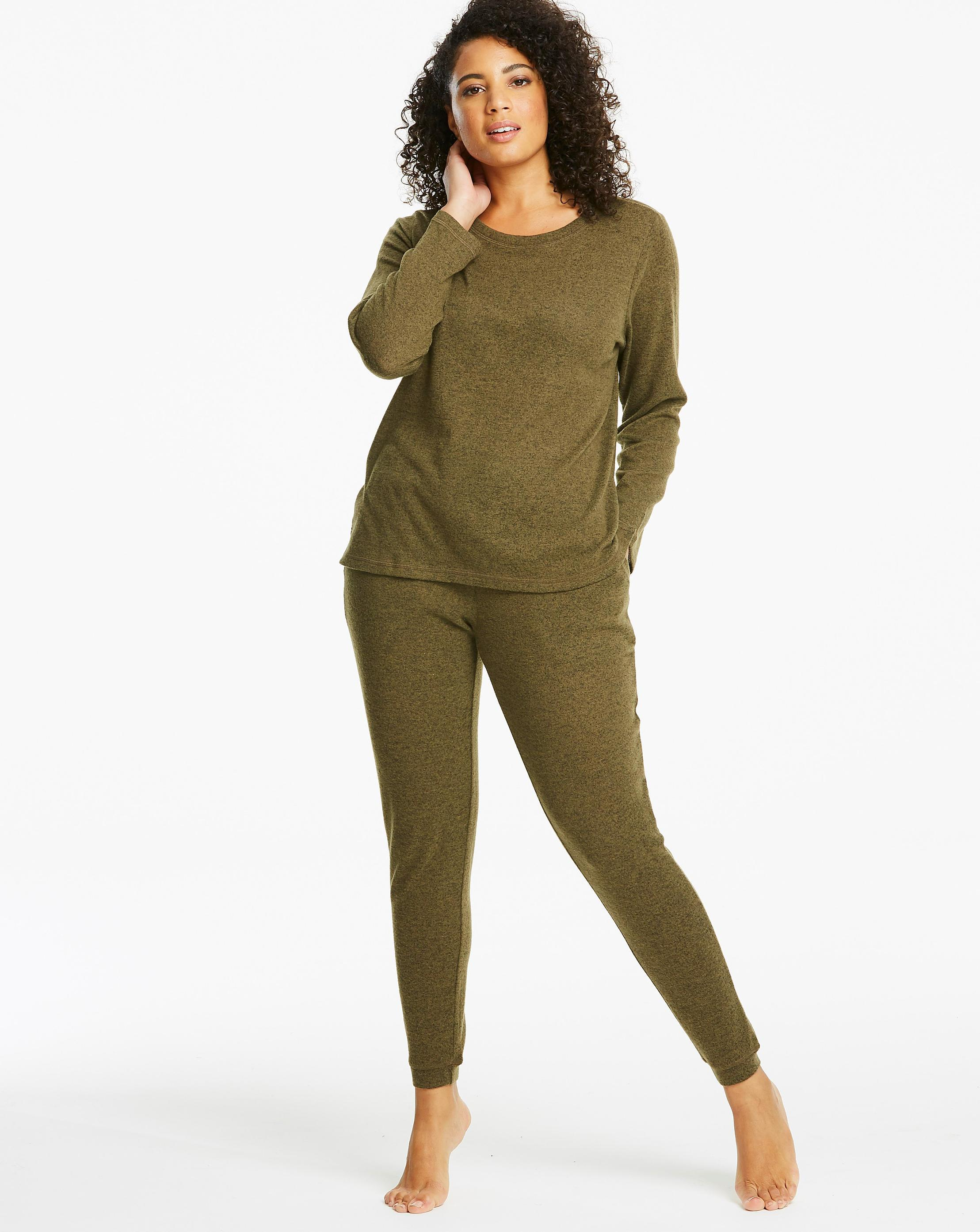 375660e05a88 Lyst - Simply Be Pretty Secrets Knitted Twosie in Green