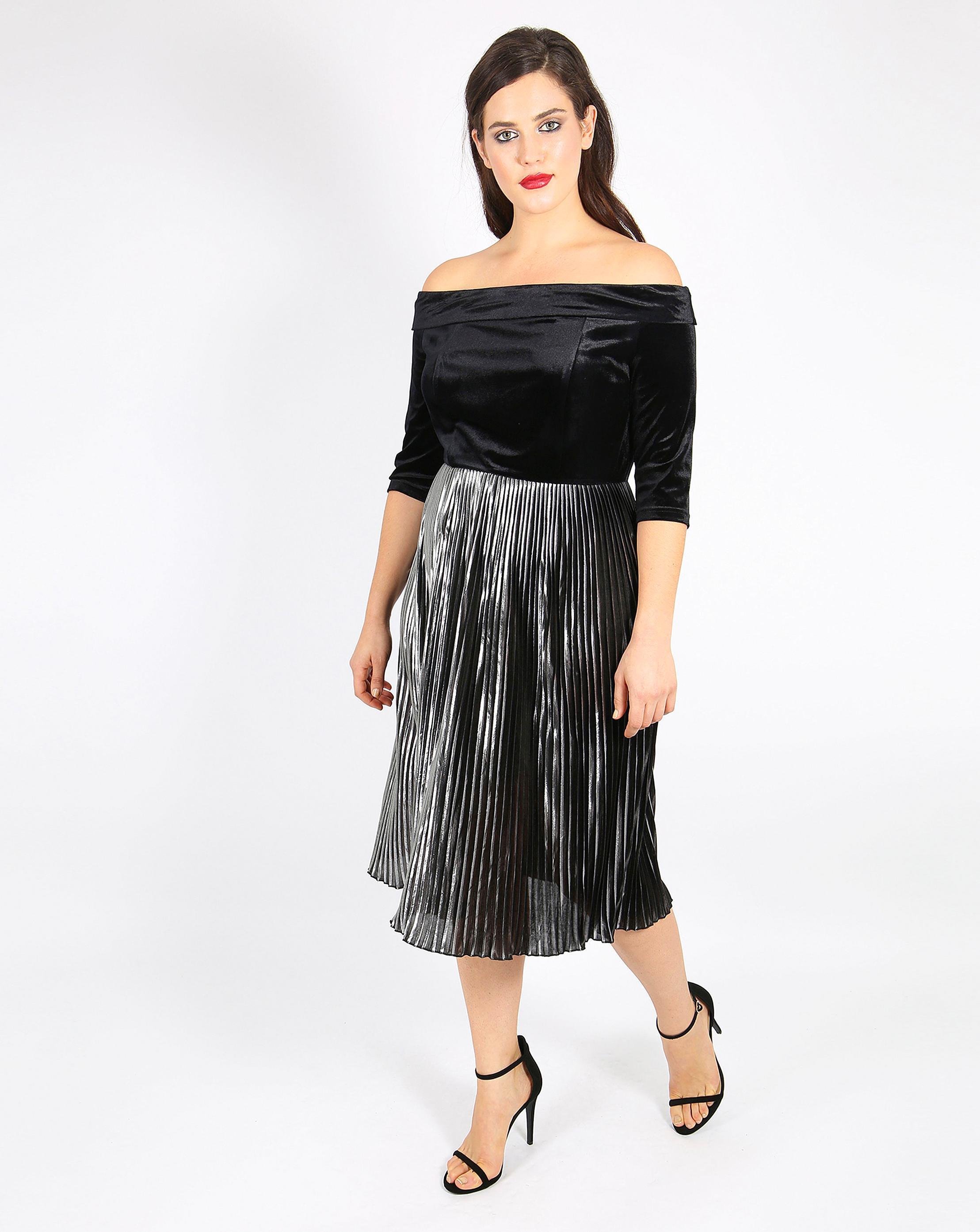 7f9e836a736 Off The Shoulder Dress Pleated Skirt | Huston Fislar Photography