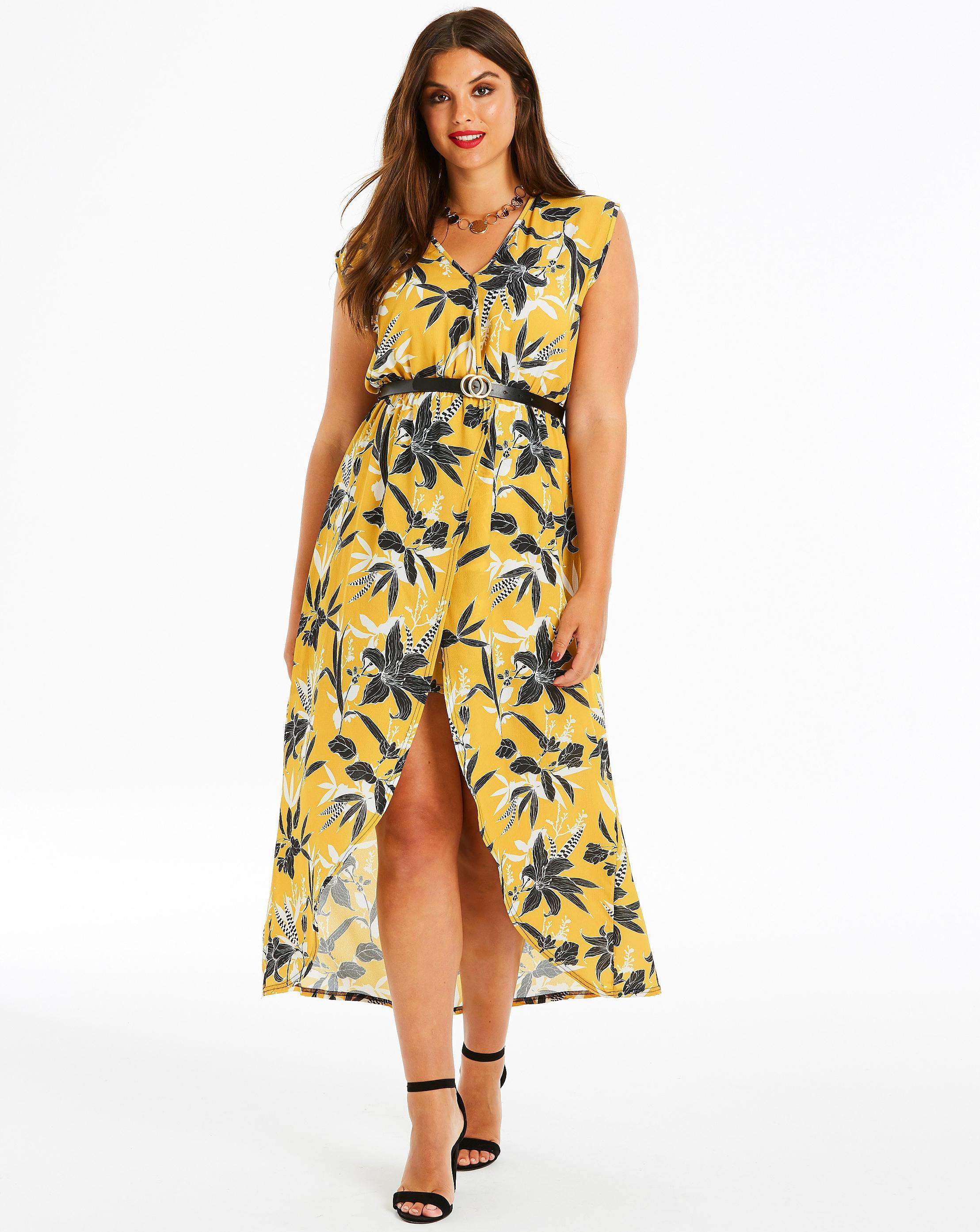 cda20a40f4f Quiz Curve Floral Print Wrap Front Midi Dress – DACC
