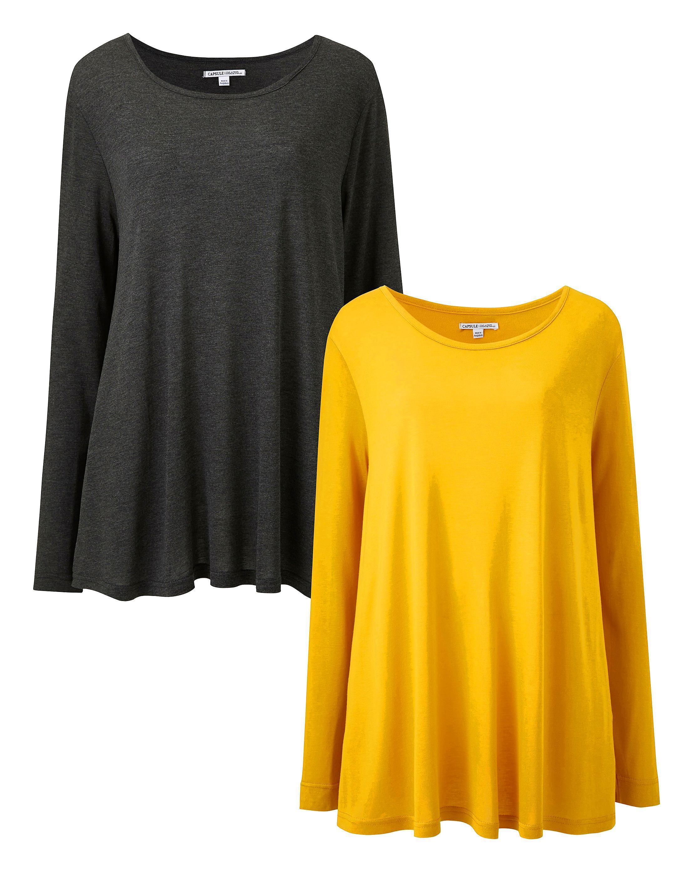 503b242d309859 Lyst - Simply Be 2 Pack Long Sleeve Swing Tops