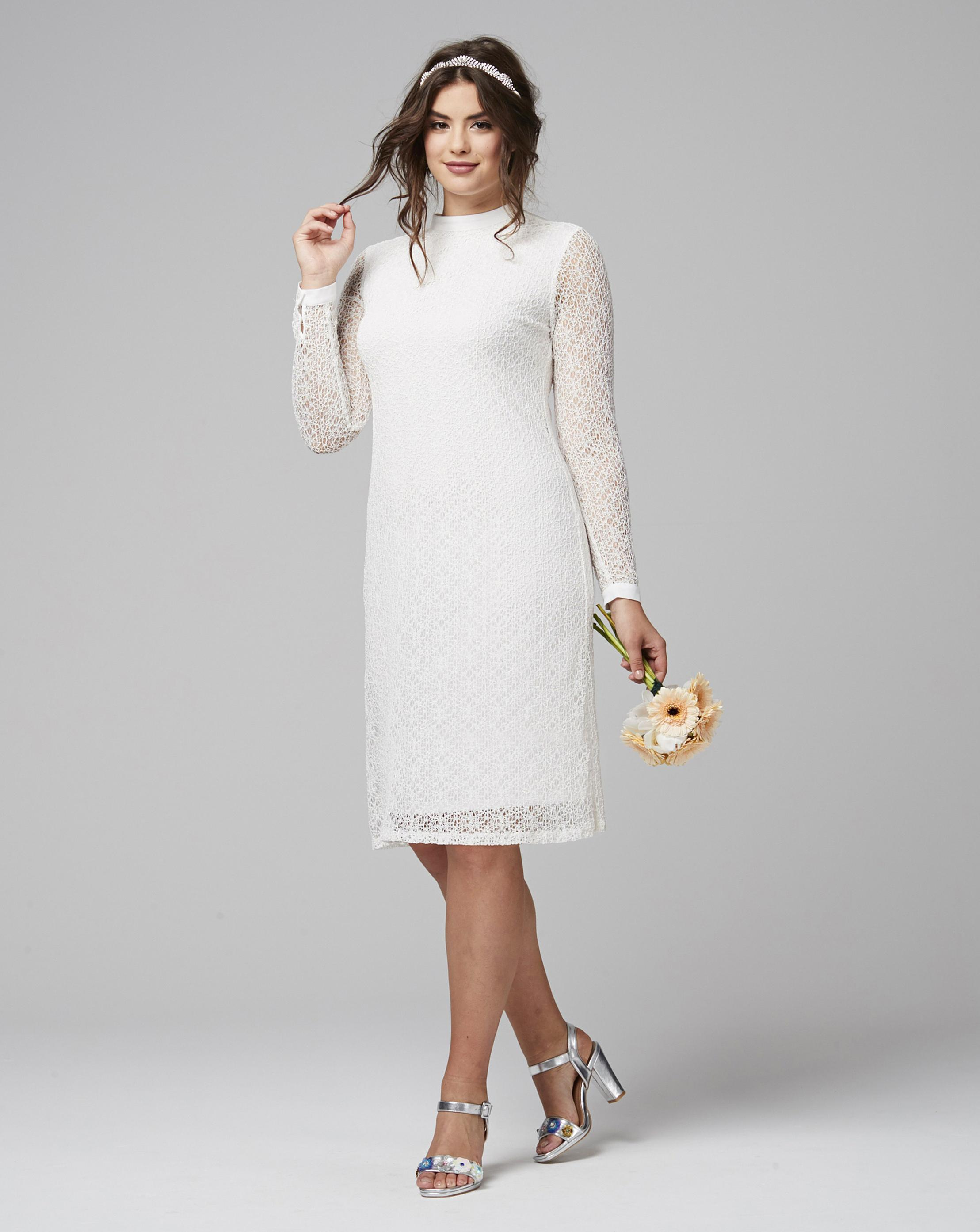 3a397bc2efe7 Lyst - Simply Be Joanna Hope Lace Dress in White