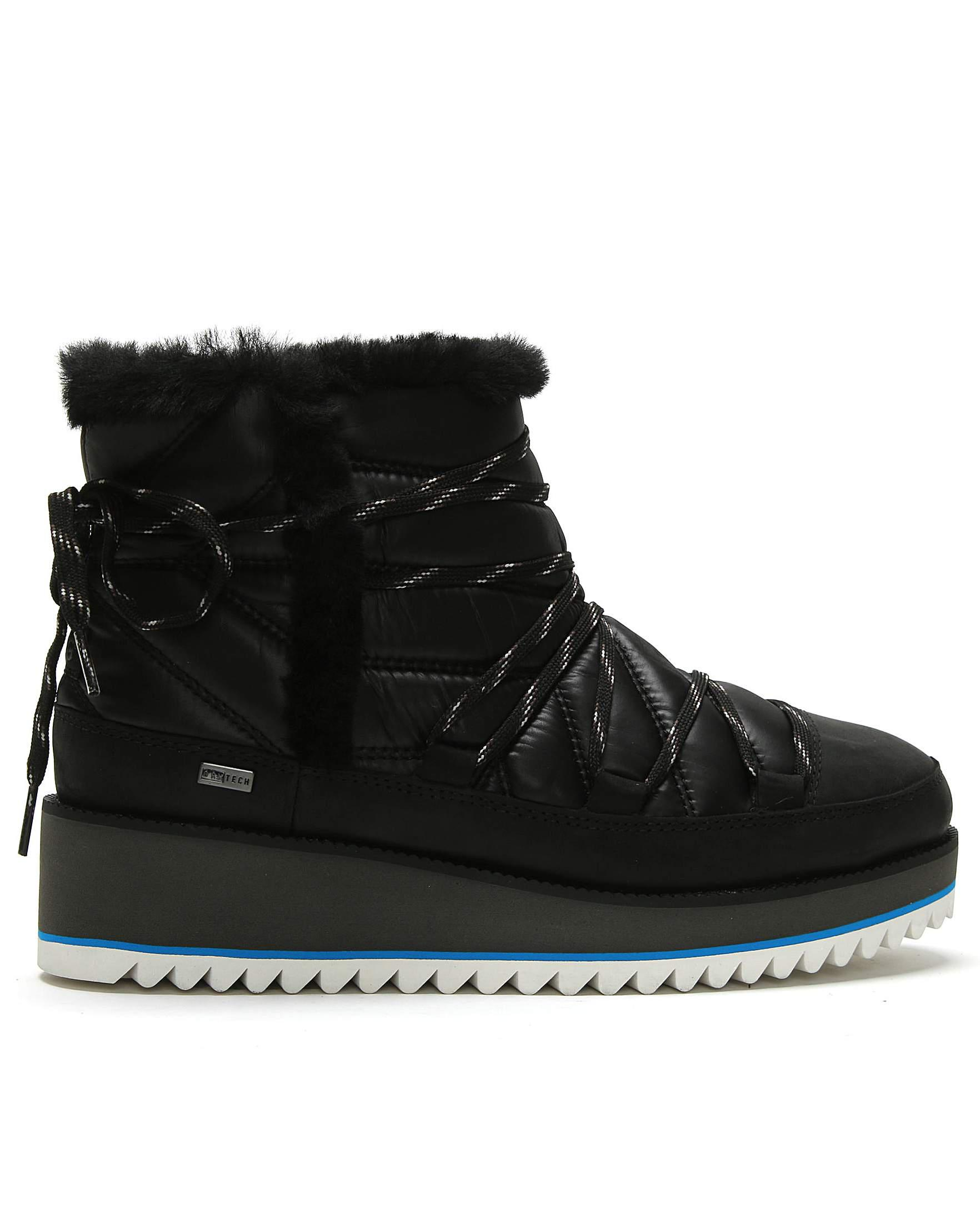 4ba1ce894cc UGG Cayden Nylon Ankle Boots in Black - Lyst
