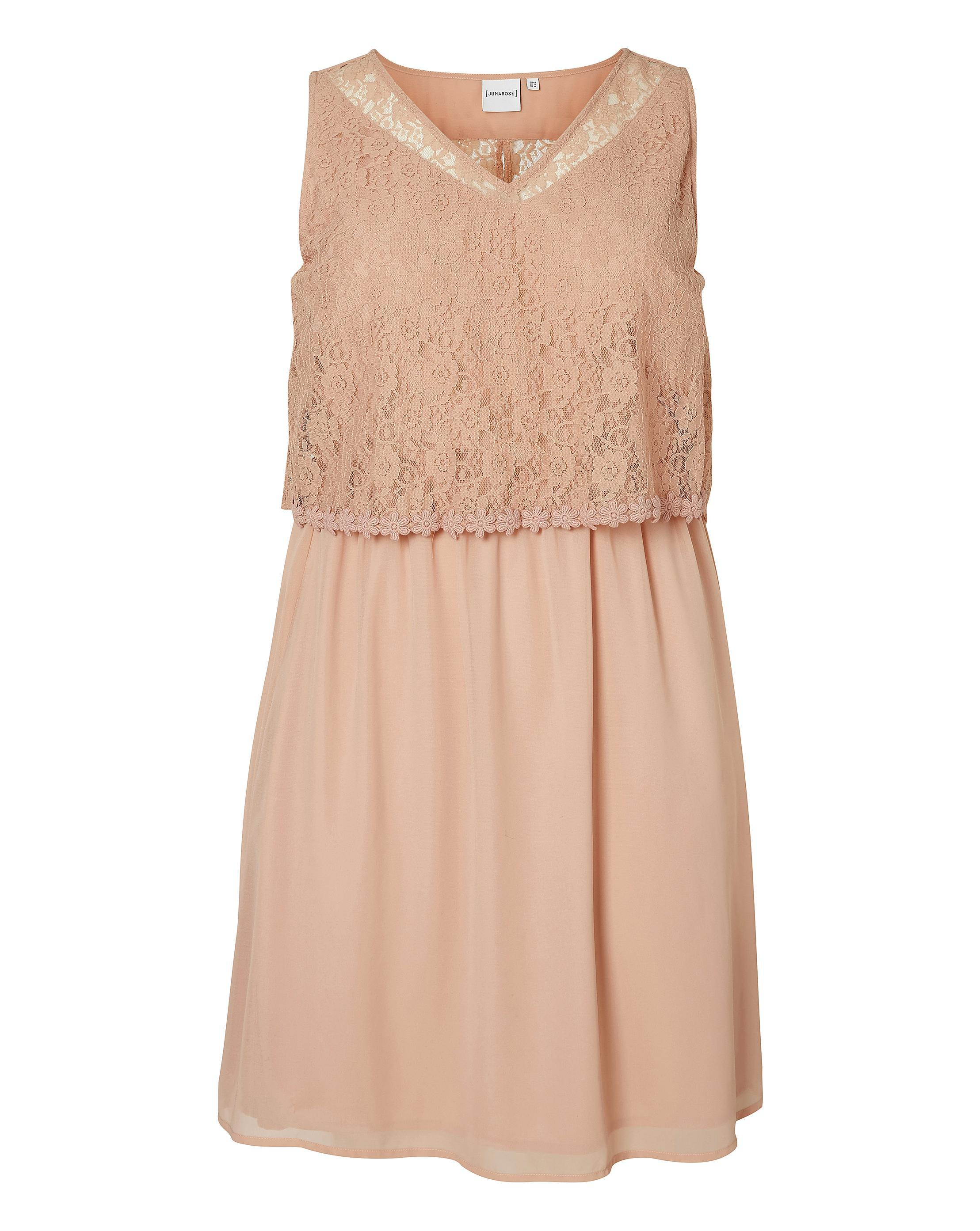 51a1a7e96f5 Lyst - Simply Be Junarose Lace-top Dress in Pink