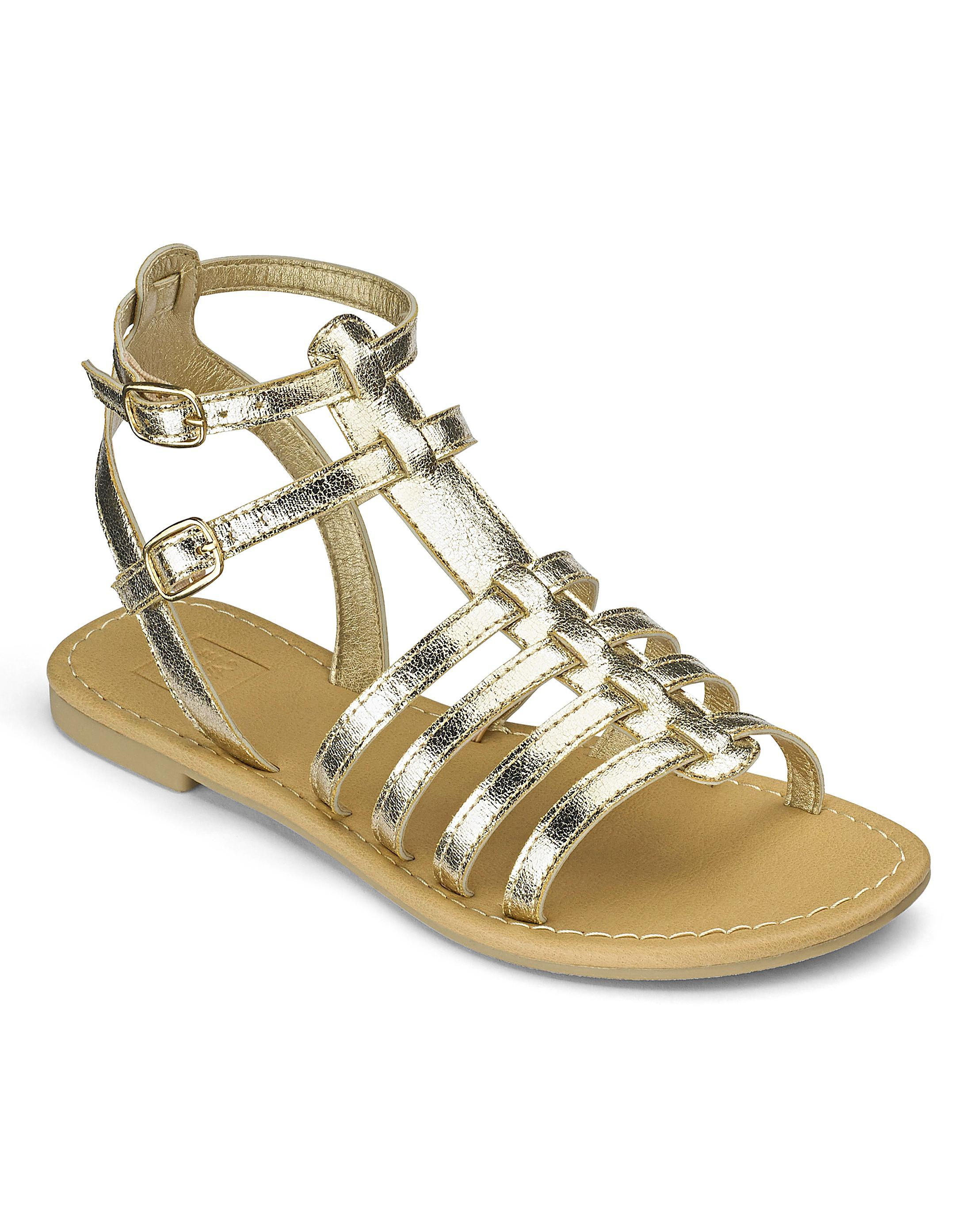 637681a92b7 Lyst - Simply Be Sole Diva Gladiator Sandals in Metallic
