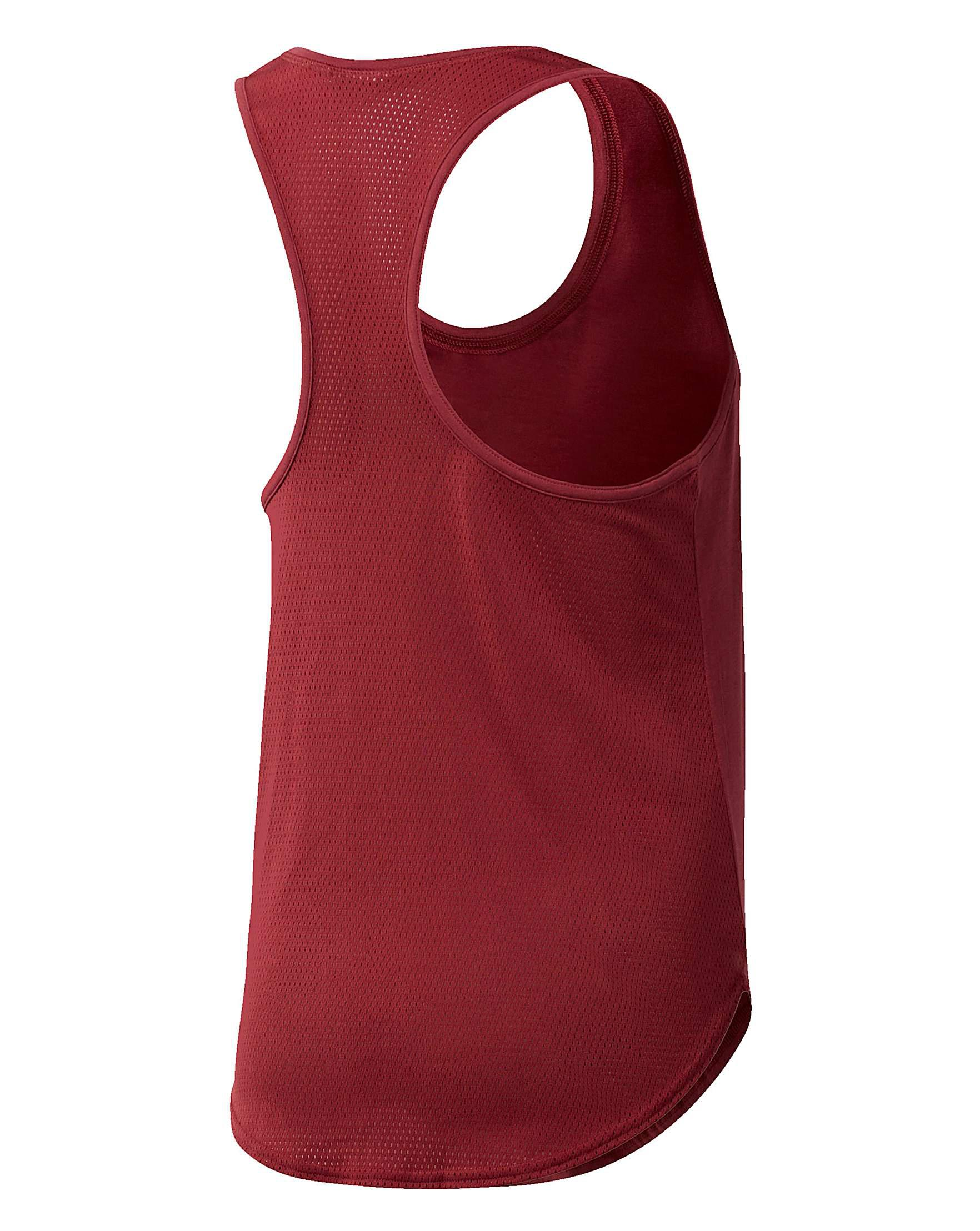 6425bce80231c Reebok Workout Mesh Back Tank Top in Red - Lyst
