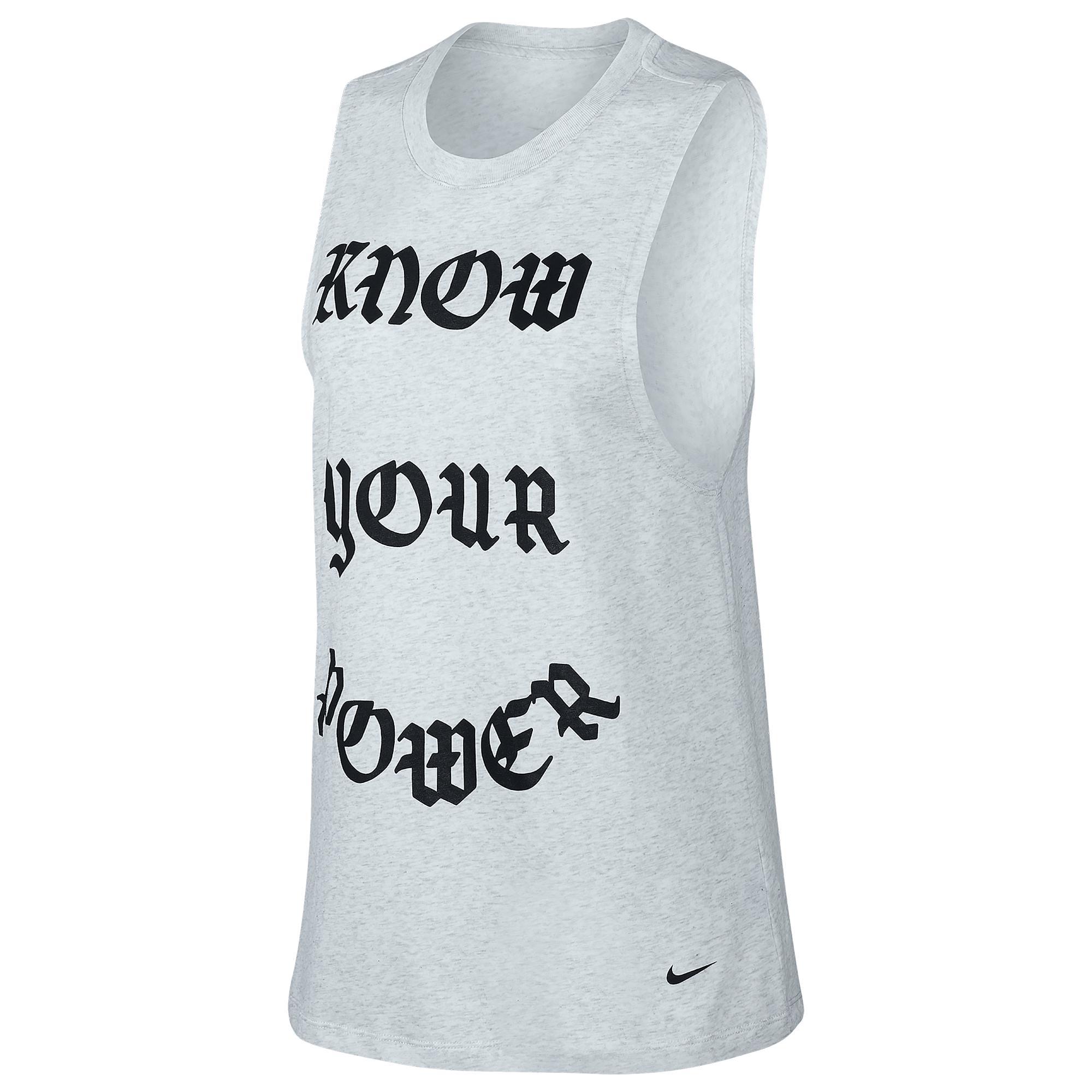 94a4888869bee Lyst - Nike Goddess Muscle Tank in Black