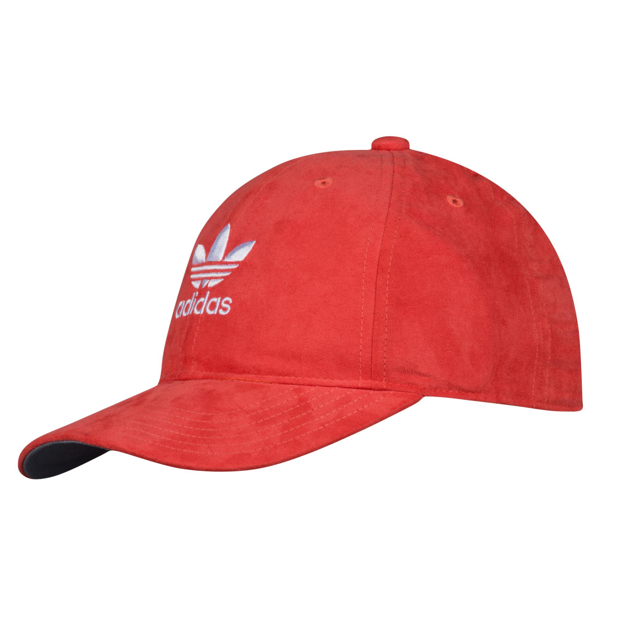 5c2799e1c7c Lyst - adidas Originals Suede Relaxed Strapback Hat in Red - Save 58%