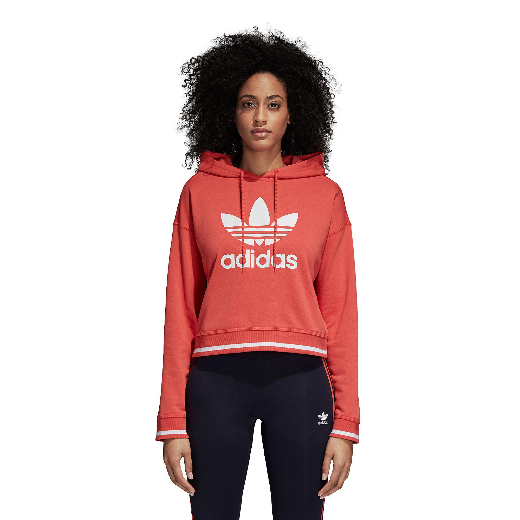 Lyst Adidas Originals Active Icon Crop Hoodie in Red