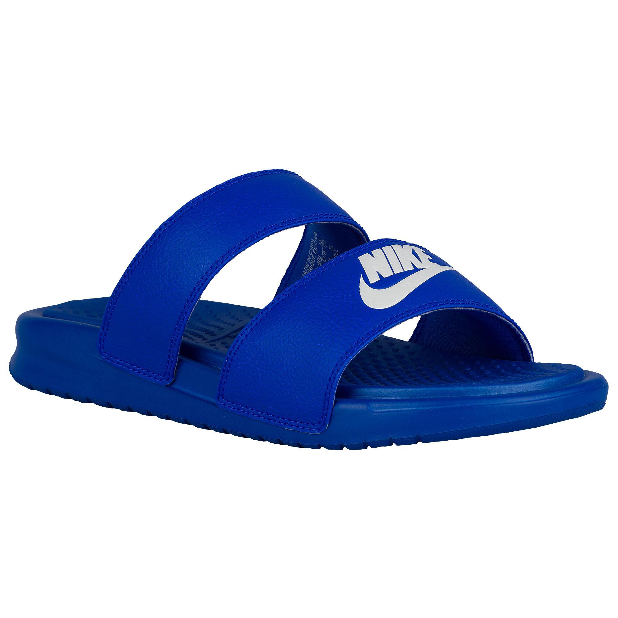 Lyst - Nike Benassi Duo Ultra Slide in Blue beb8a091309f