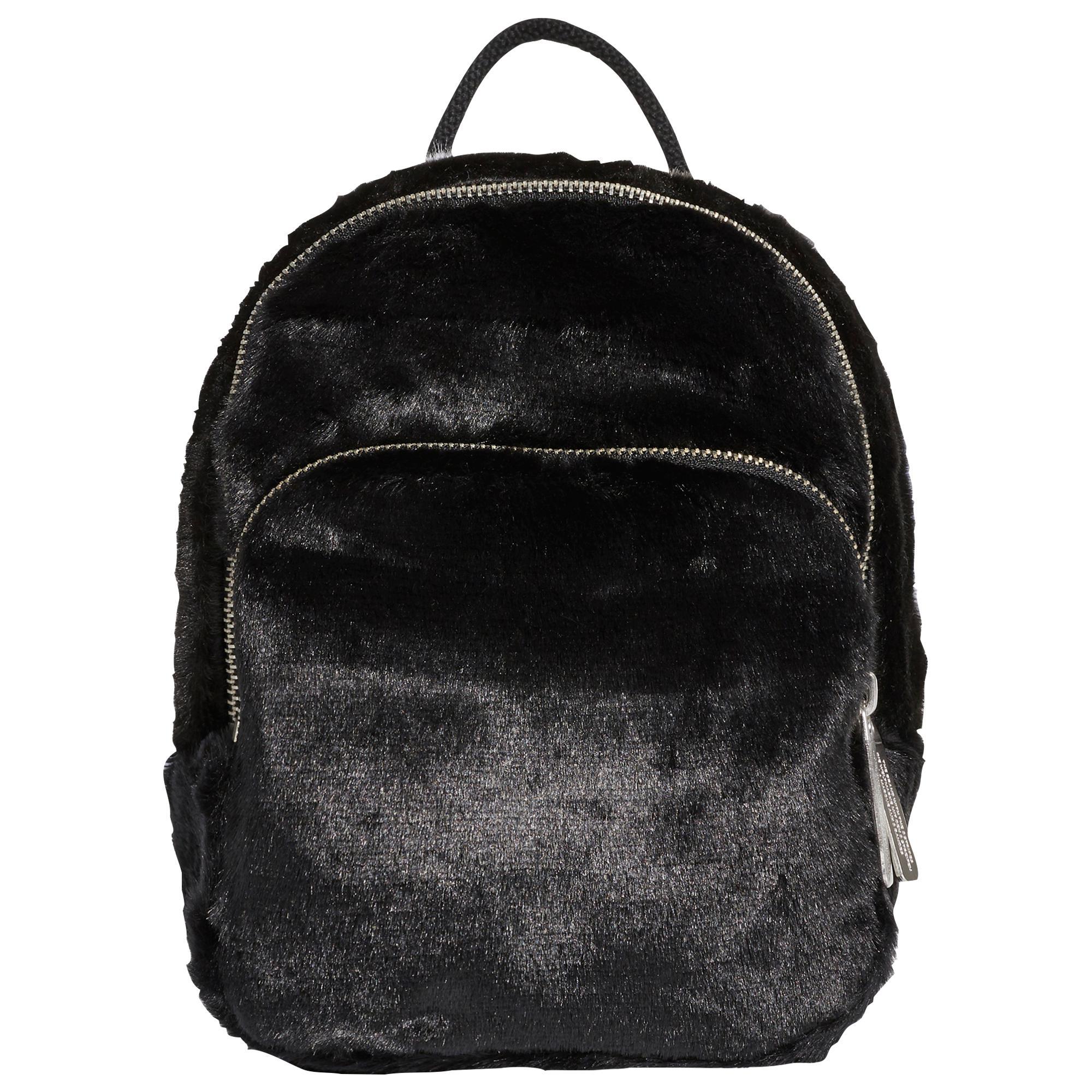 257a0b60a4 Lyst - adidas Originals Classic Mini Fur Backpack in Black