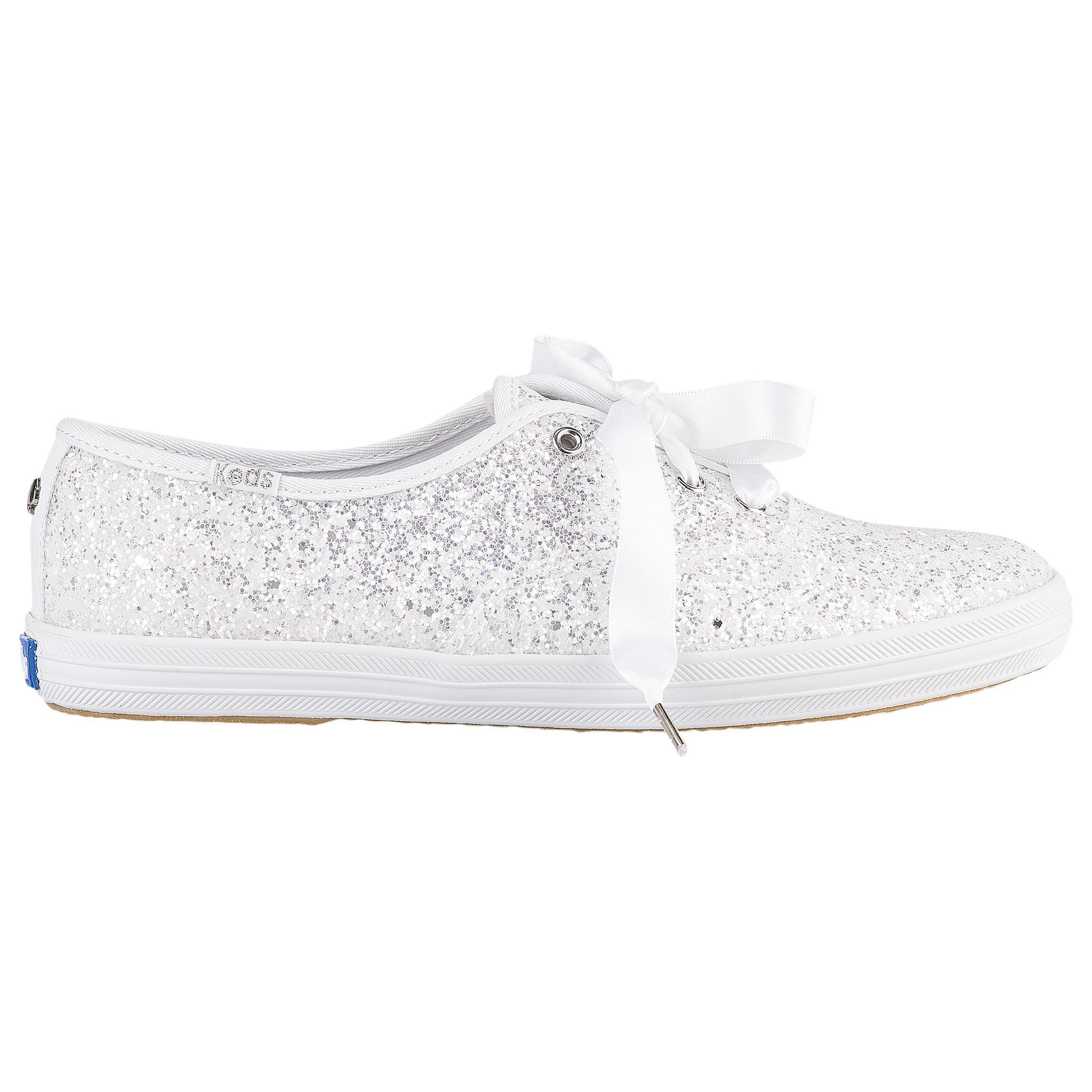 c12e321fbde96 Lyst - Keds For Kate Spade Champion Glitter in White
