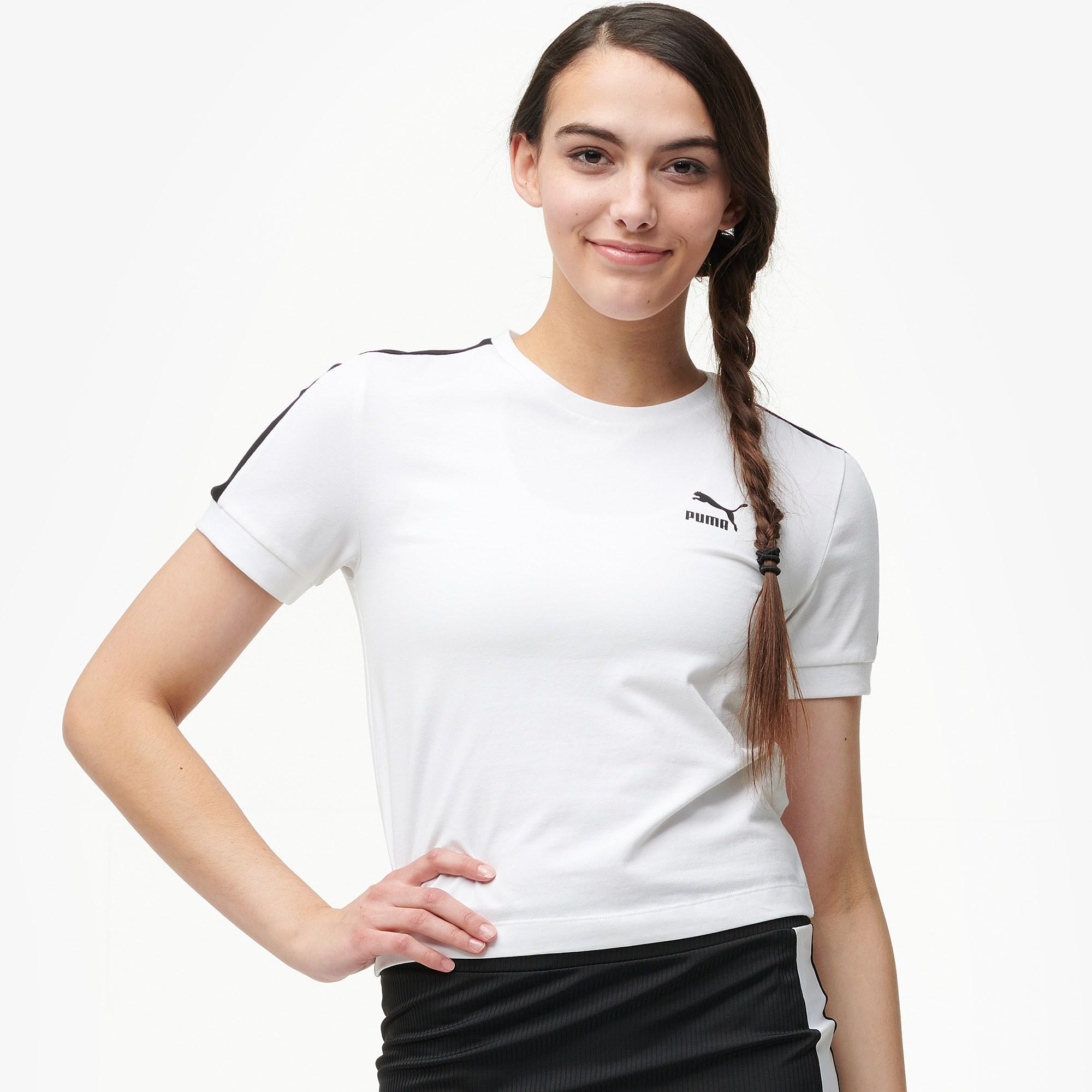 9ab77e1bce PUMA Classic T7 Tight T-shirt in White - Lyst