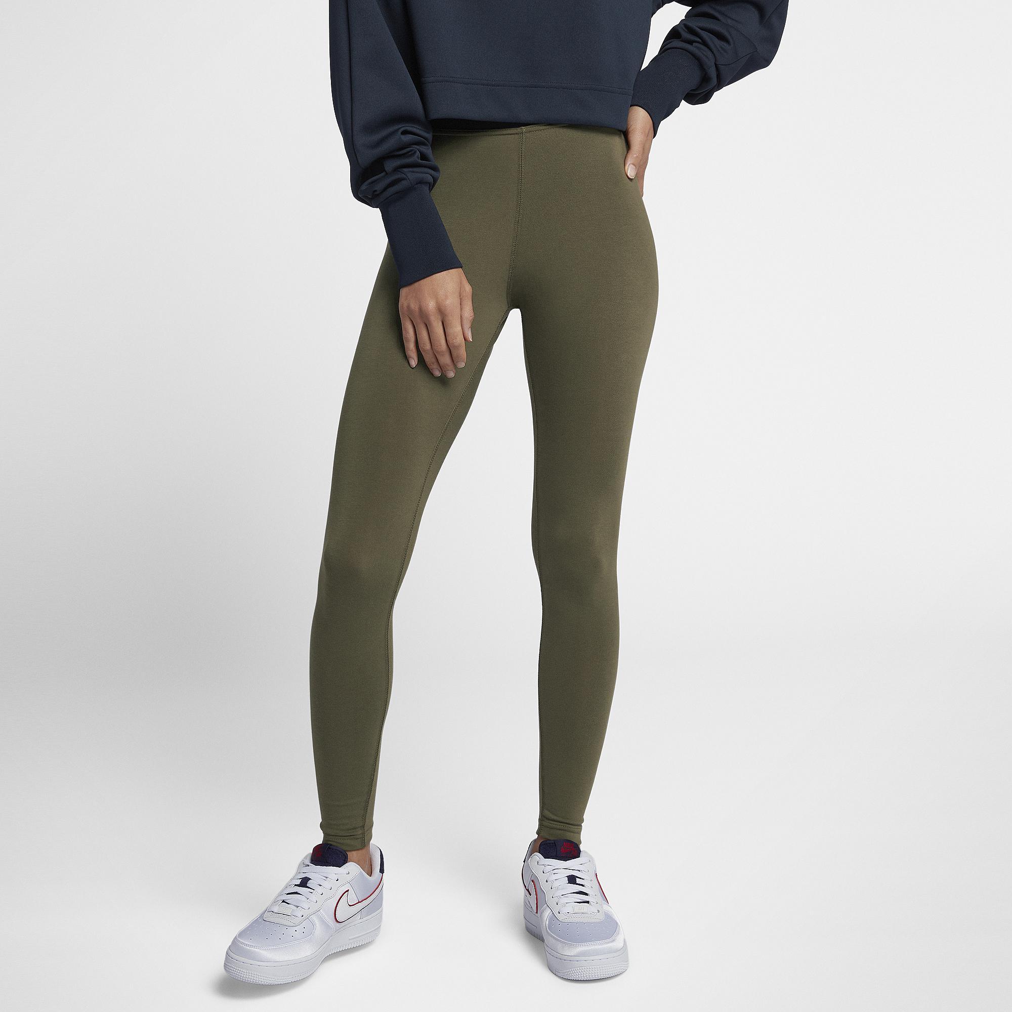 08b183d92ee53 Nike. Women's Green High-waisted Futura Logo Leggings
