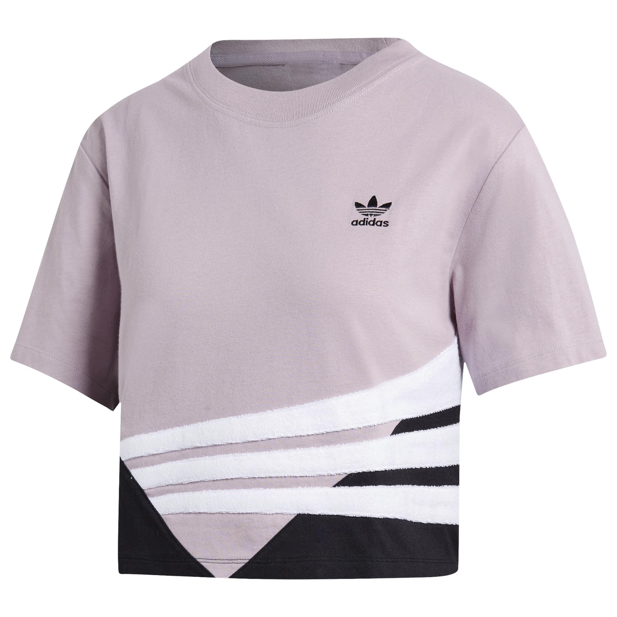 0599a9a2 Lyst - adidas Bossy 90s Cropped T-shirt in Pink