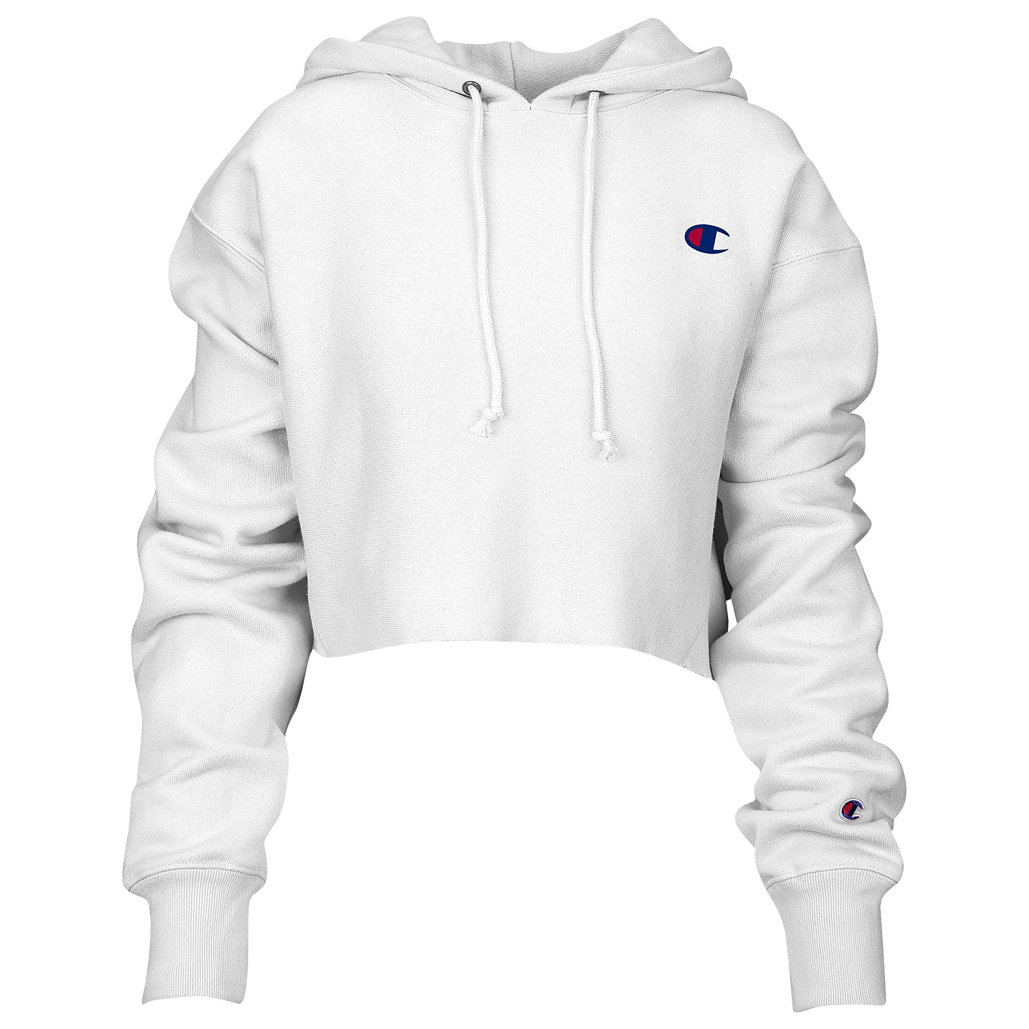 2b6c043fa971 Lyst - Champion Reverse Weave Cropped Cut Off Hoodie in White