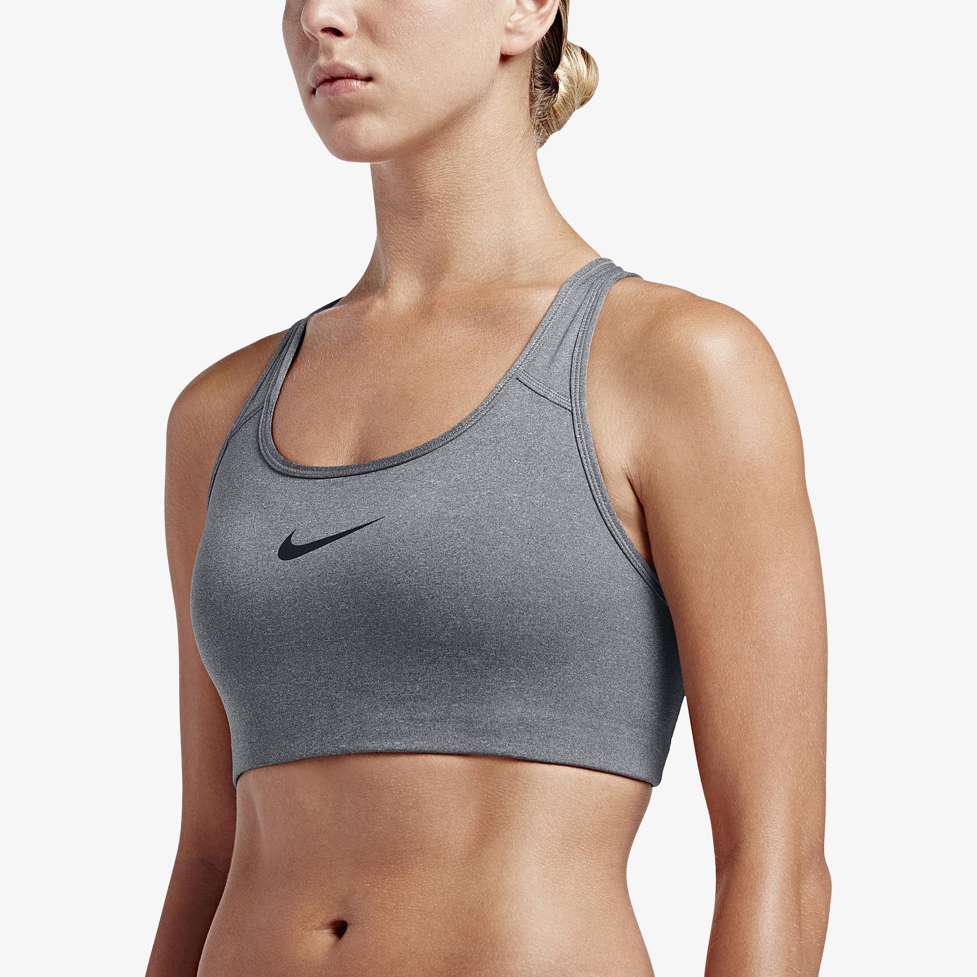 c337e555f3 Nike - Gray Pro Swoosh Bra - Lyst. View fullscreen