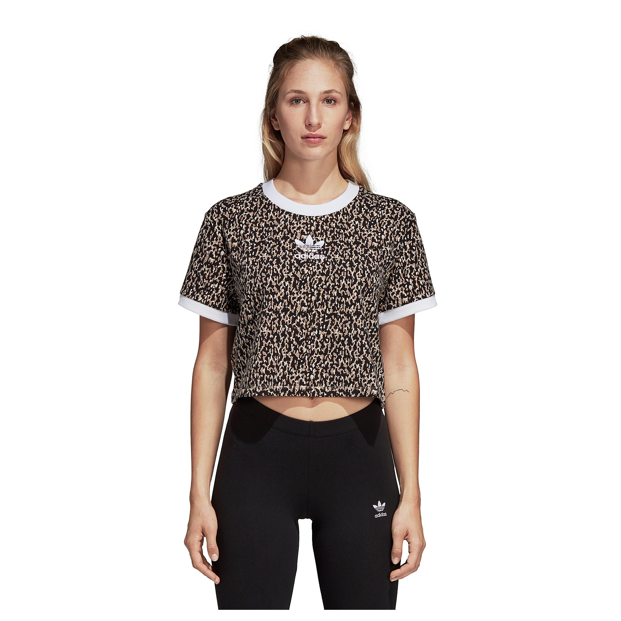 info for c1c2d 21953 adidas Originals. Womens Black Leoflage Cropped T-shirt
