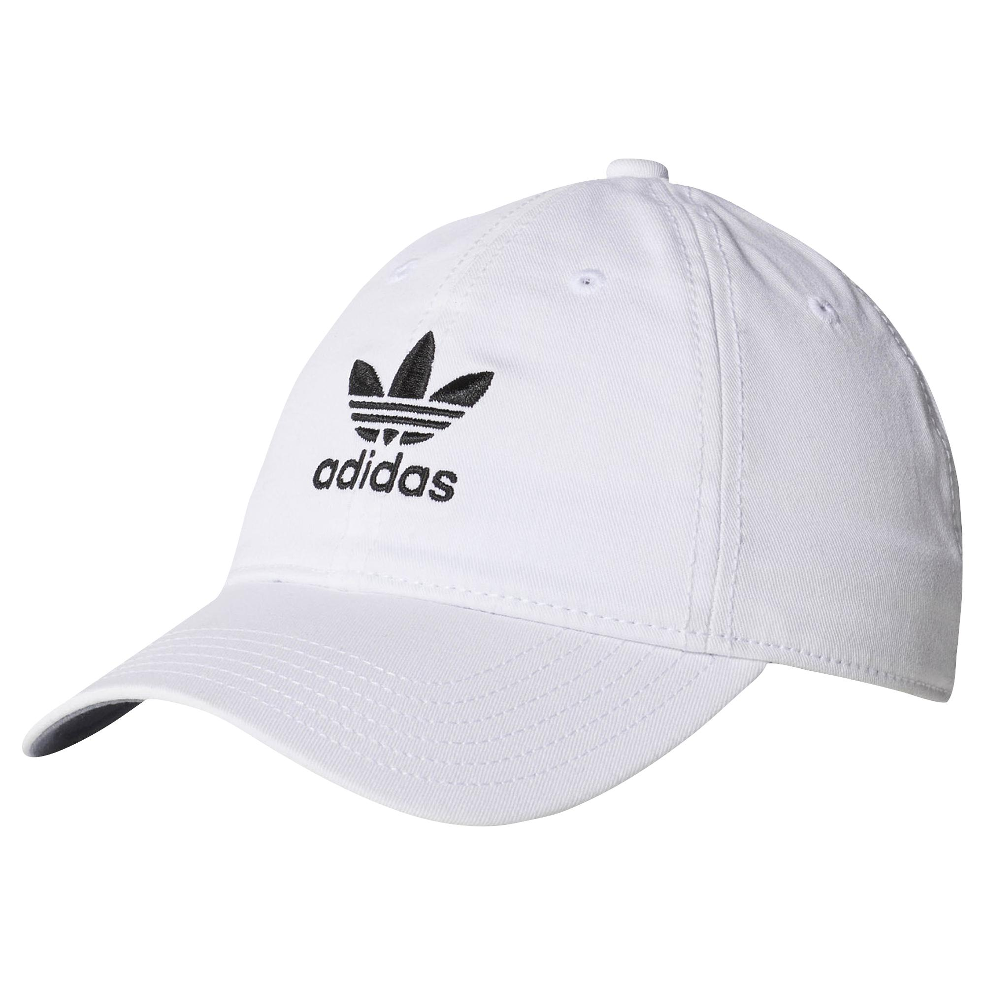 brand new 86080 cb97a adidas Originals. Women s White Relaxed Strapback Hat