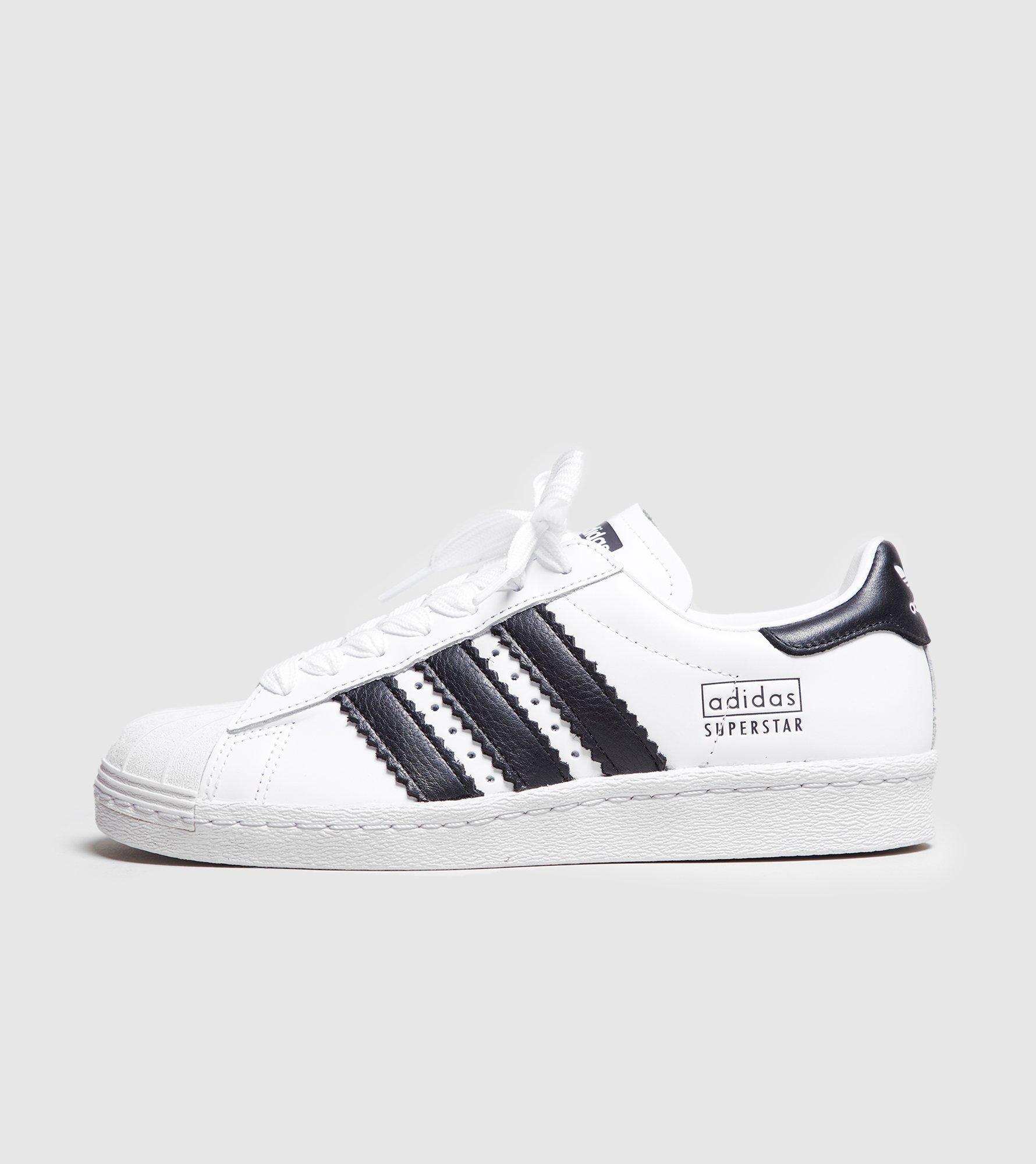 Adidas Originals White Superstar Fat Stripes Women's