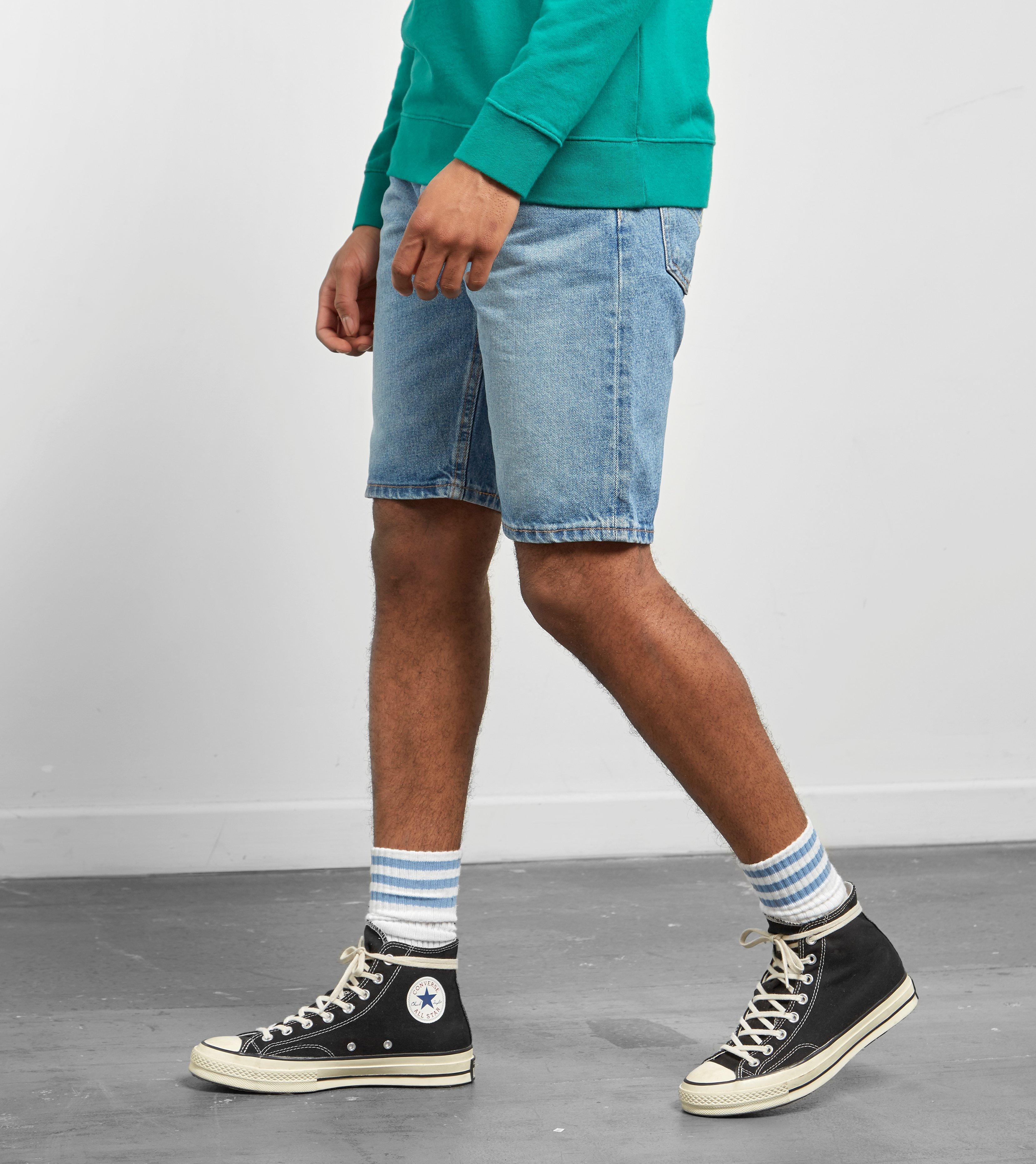 838e7343 Levi's Levis 502 Regular Taper Fit Hemmed Shorts in Blue for Men - Lyst