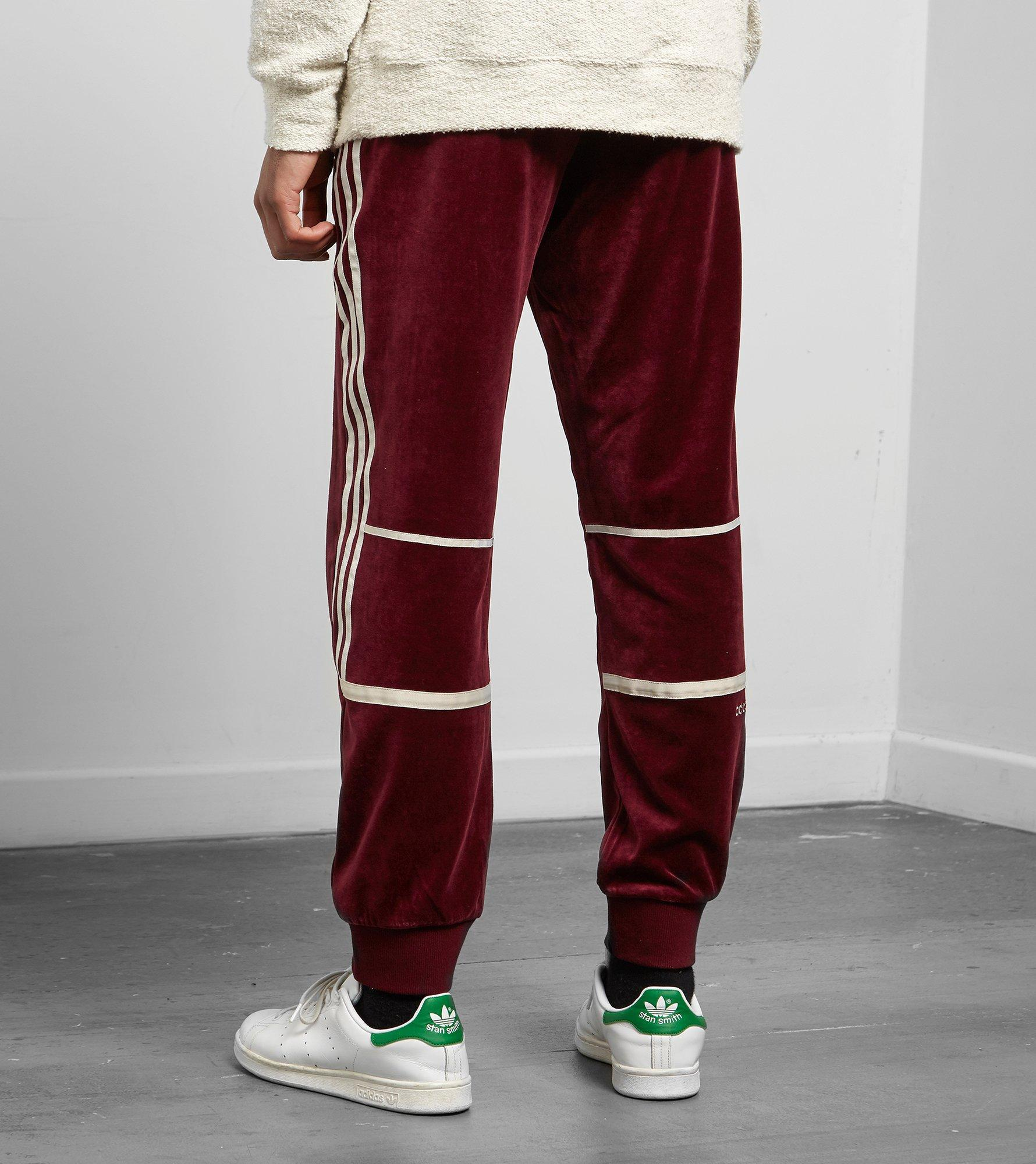Adidas Originals Red Challenger Velour Track Pants for men