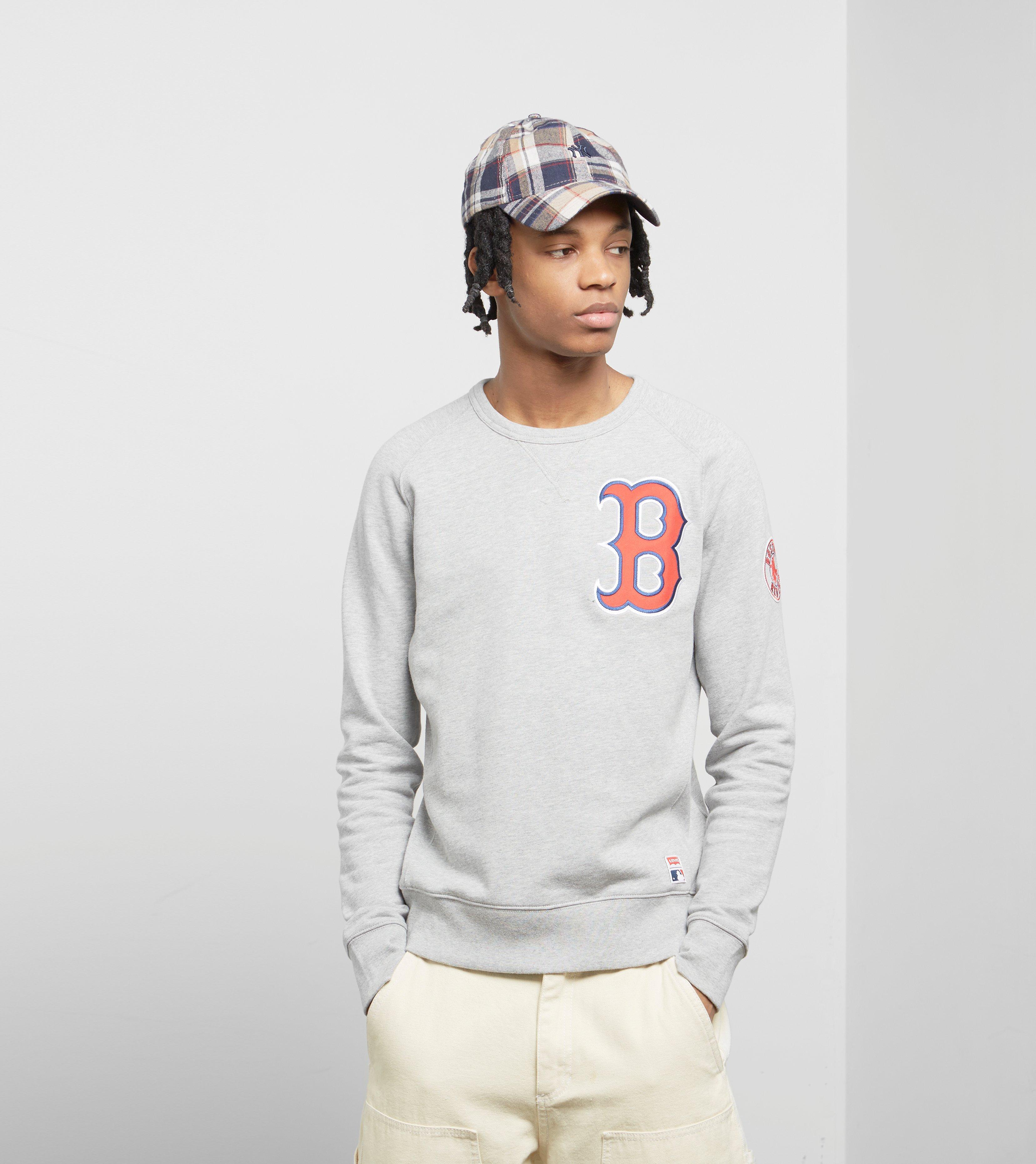 check out 5db59 88c86 Levi's Gray Levis X Mlb Boston Red Sox Sweatshirt for men