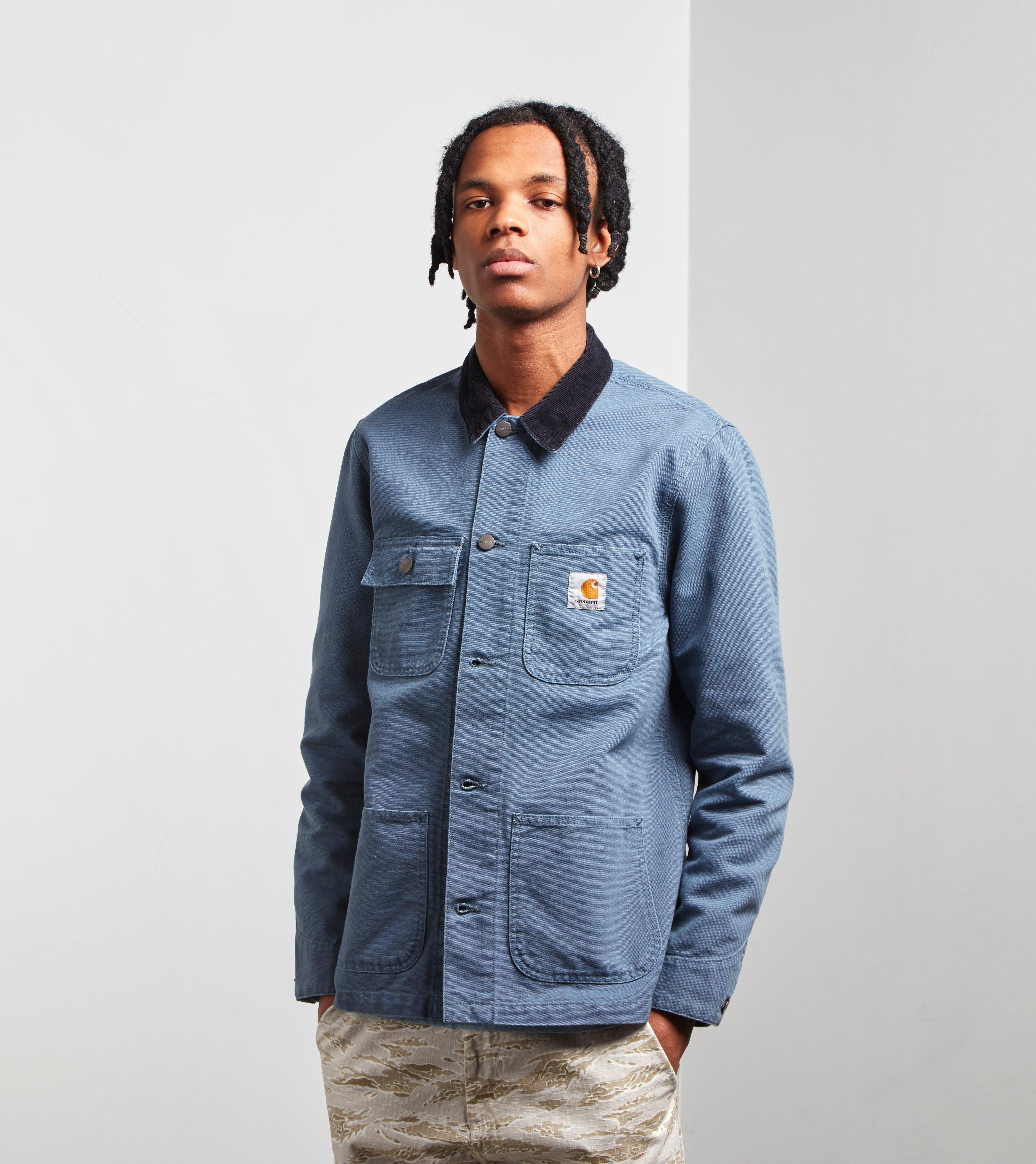 ae97092592a Carhartt WIP Michigan Chore Jacket in Blue for Men - Lyst