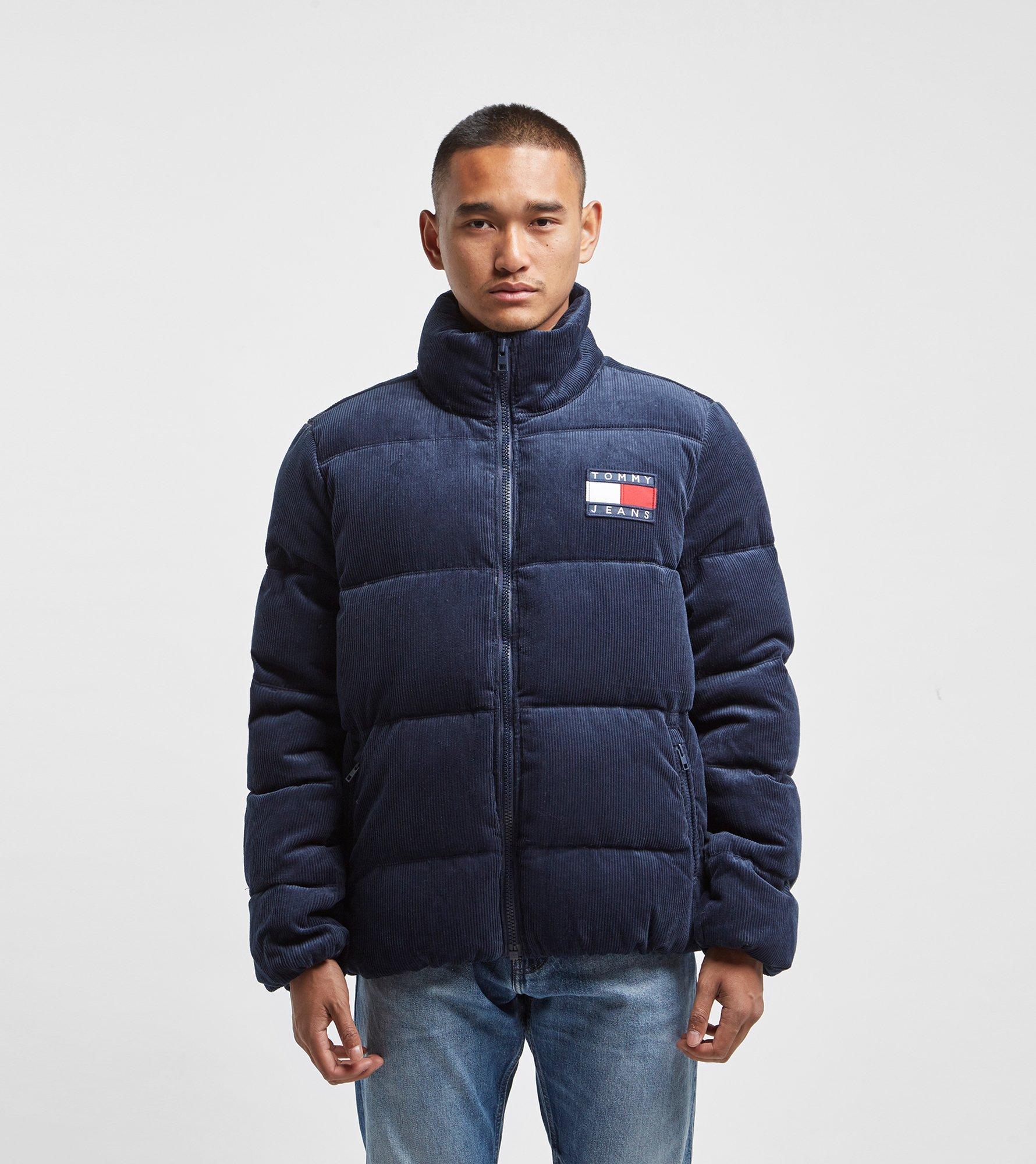 Tommy Hilfiger Corduroy Puffer Jacket in Blue for Men - Lyst