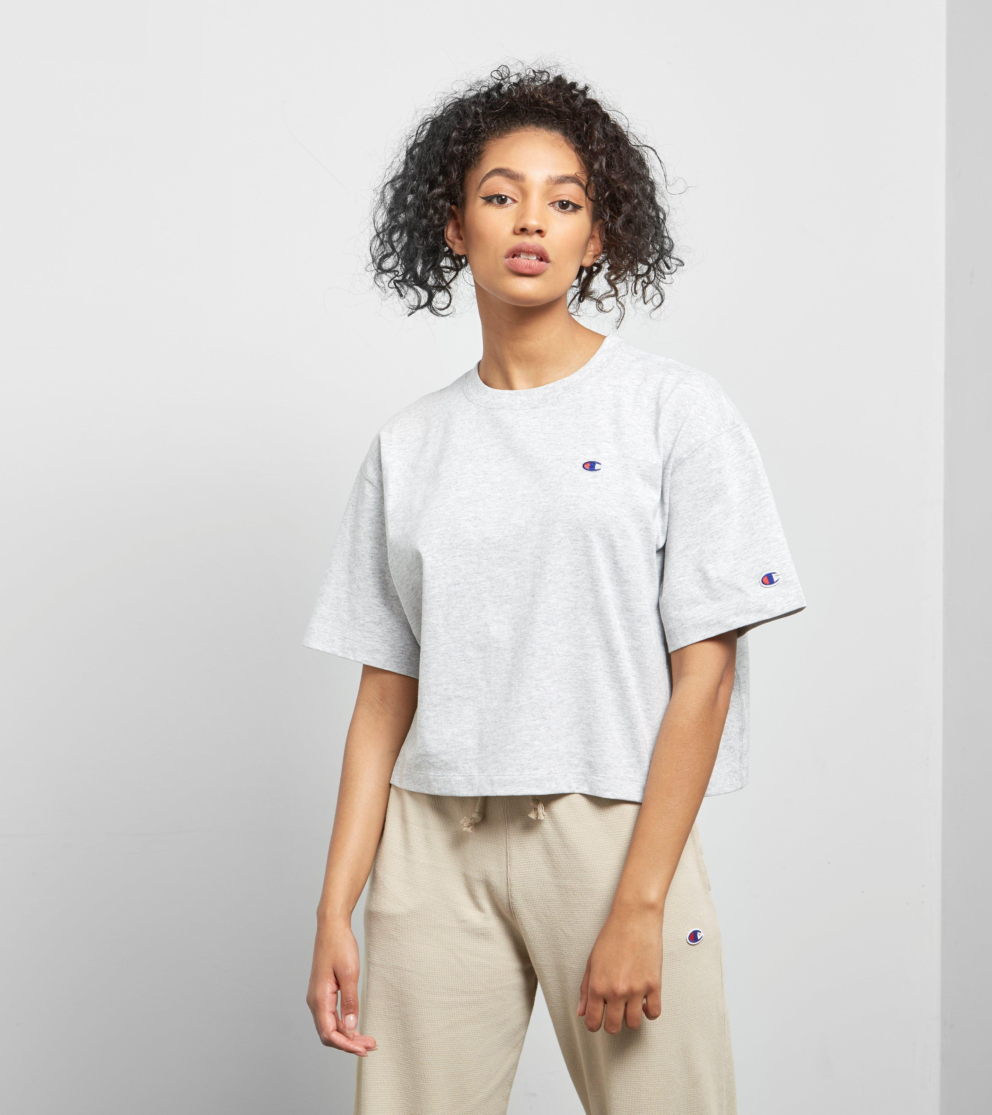 1b75bacfb049 Champion Cropped T-shirt in Gray - Lyst