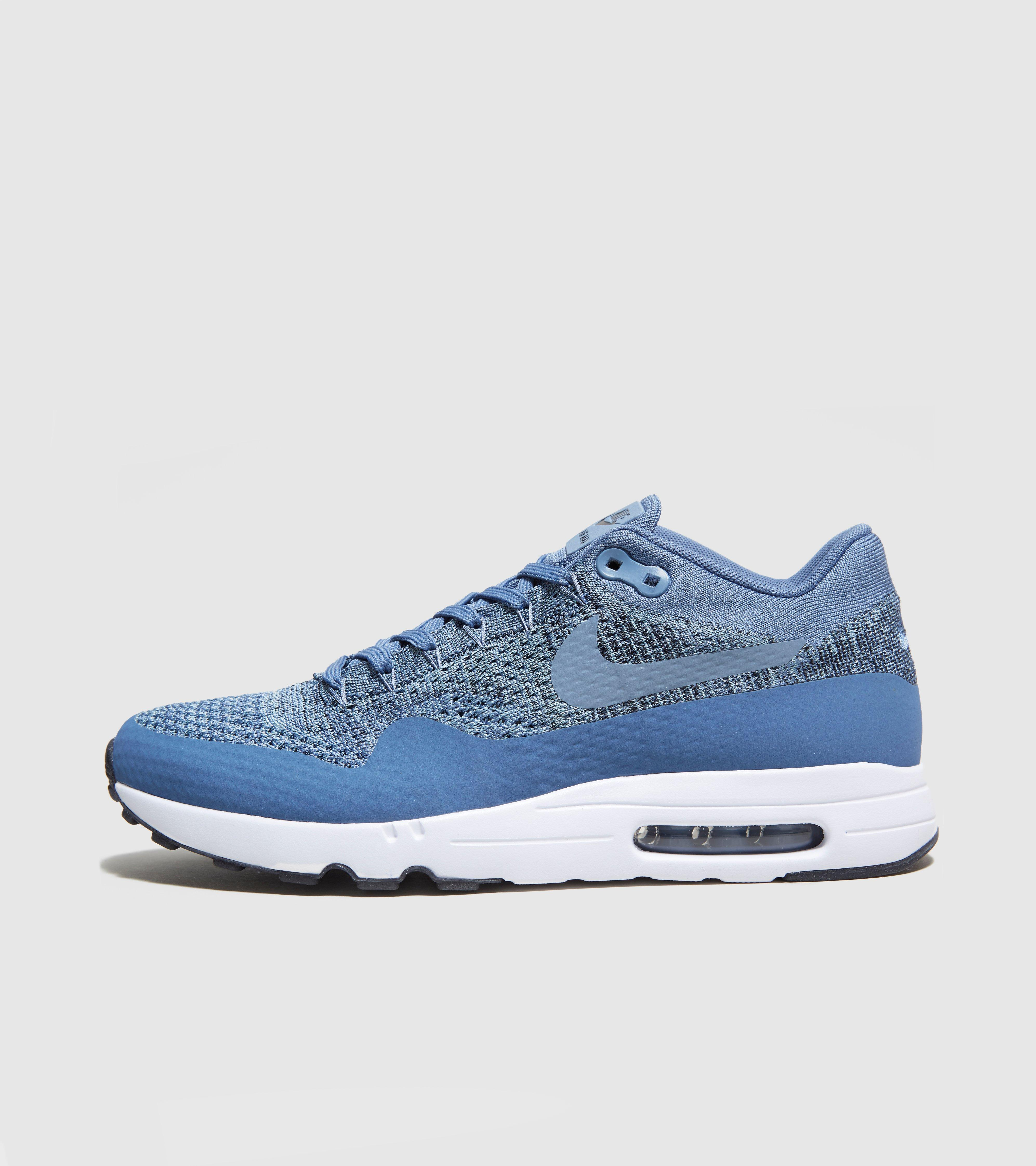lyst nike air max 1 ultra flyknit in blue for men. Black Bedroom Furniture Sets. Home Design Ideas