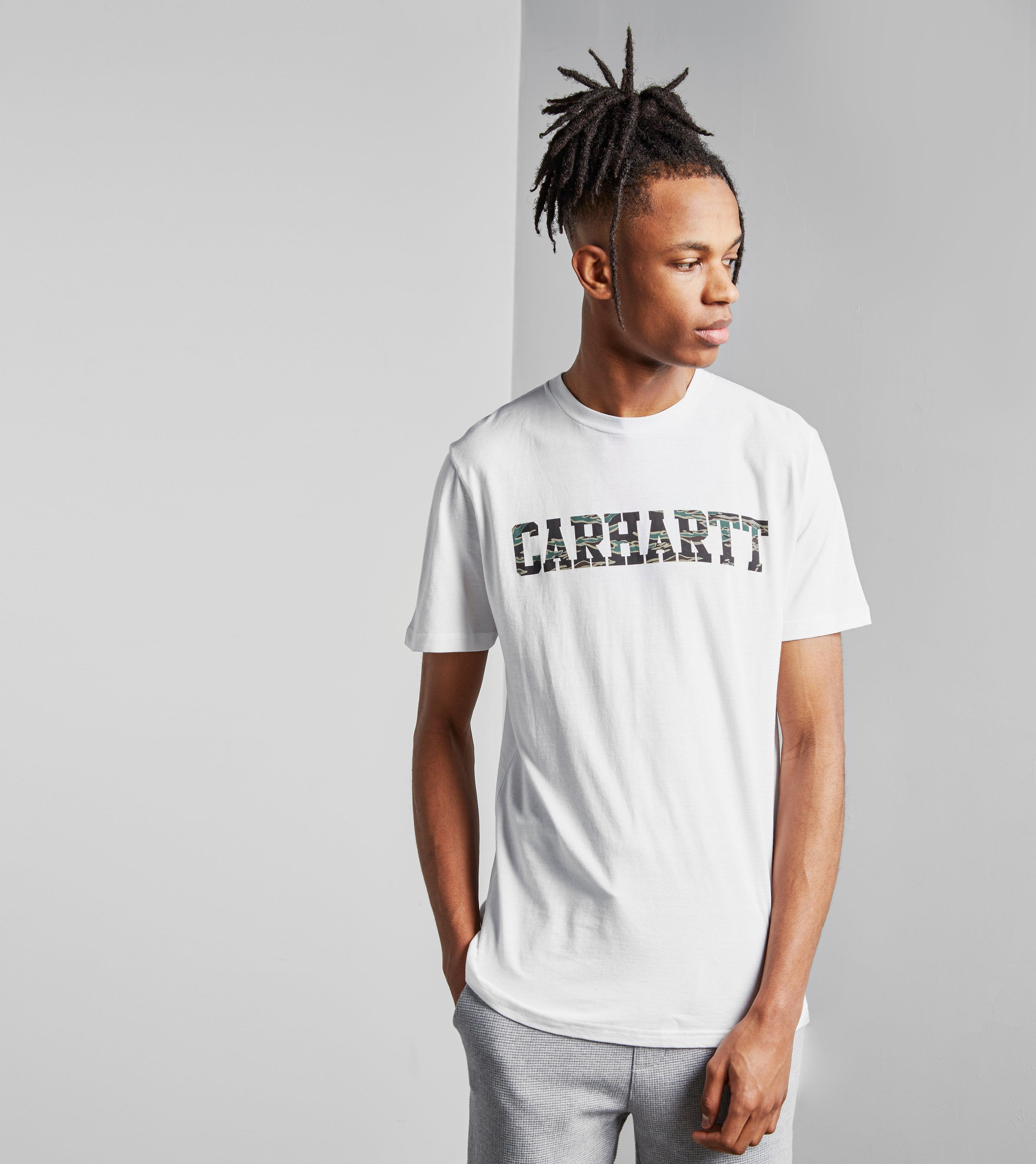 Lyst carhartt wip college short sleeve t shirt in white for T shirts for college guys