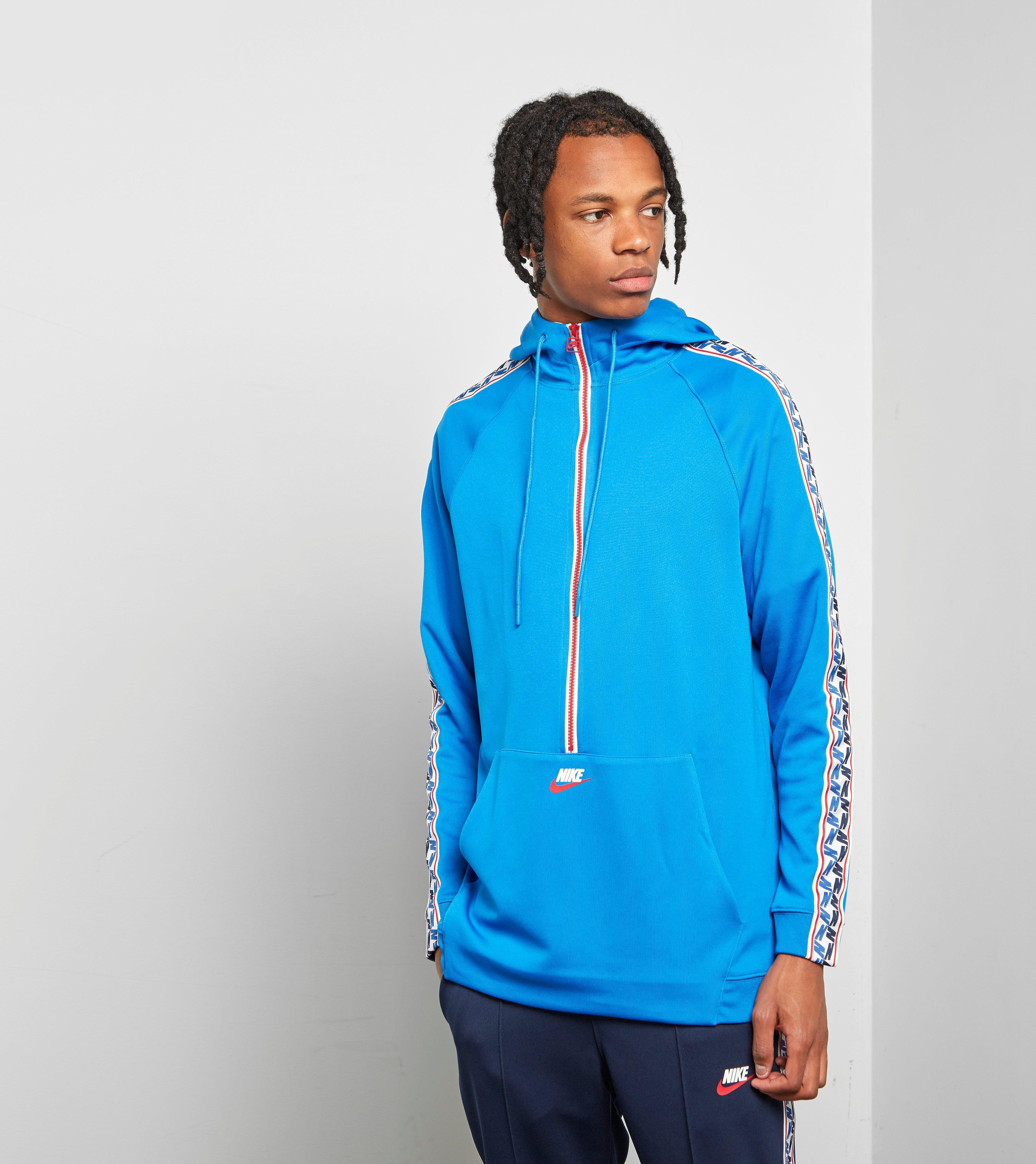 ba6750606ebd Nike - Blue Half Zip Taped Poly Hoody for Men - Lyst. View fullscreen
