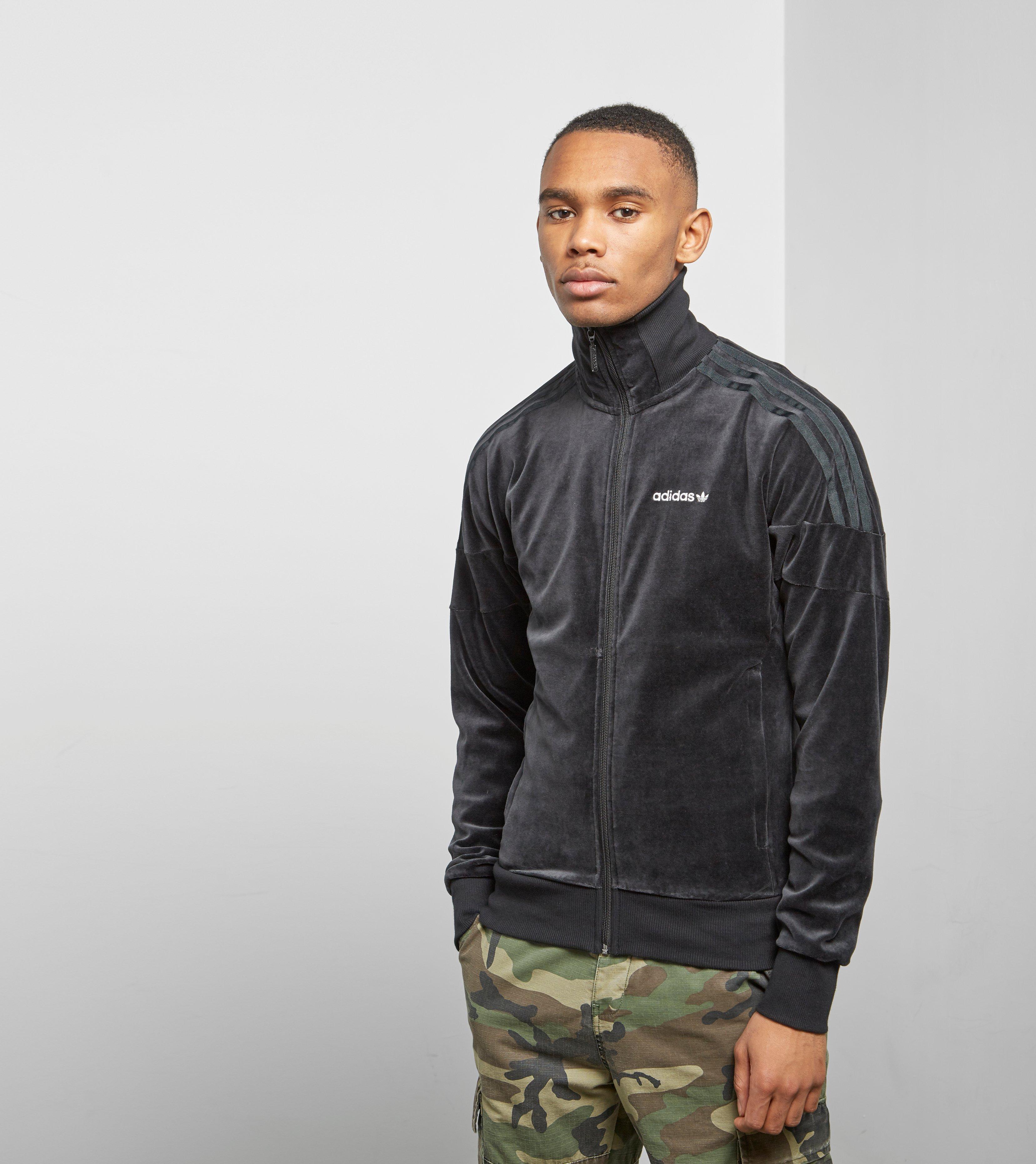 68d653c1d3fb7 Adidas Originals Black Clr84 Velour Track Top for men