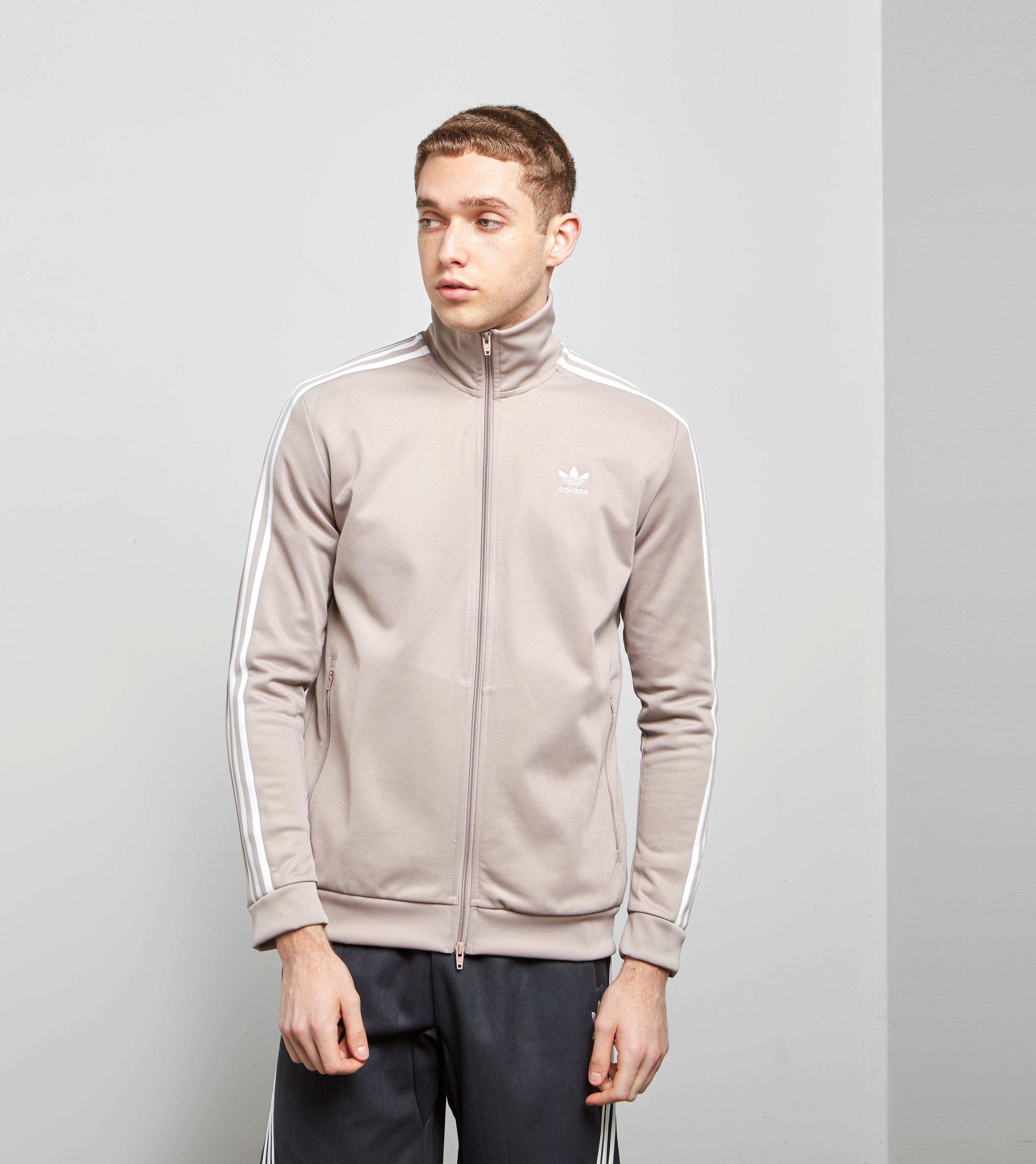 12ea1b063e13 Lyst - Adidas Originals Beckenbauer Full Zip Track Top in Gray for Men