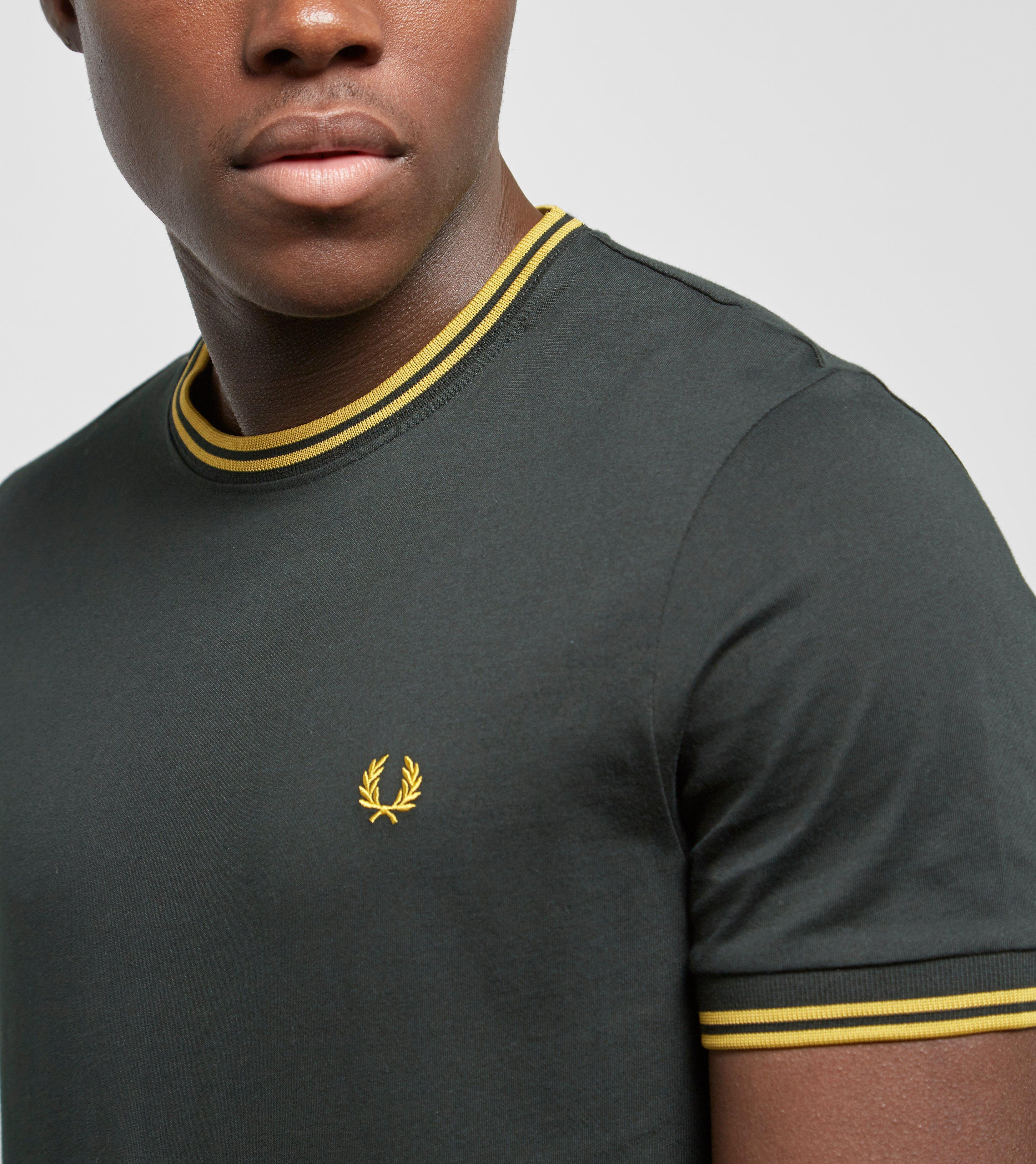 85b34995 Fred Perry Twin Tipped T-shirt in Green for Men - Lyst