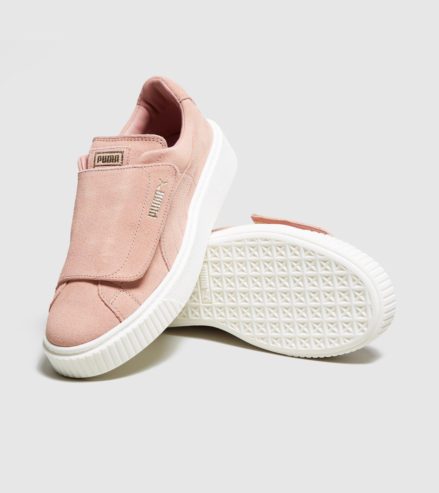 1a14cdc4c0d5 Lyst - PUMA Basket Platform Velcro Women s in Pink