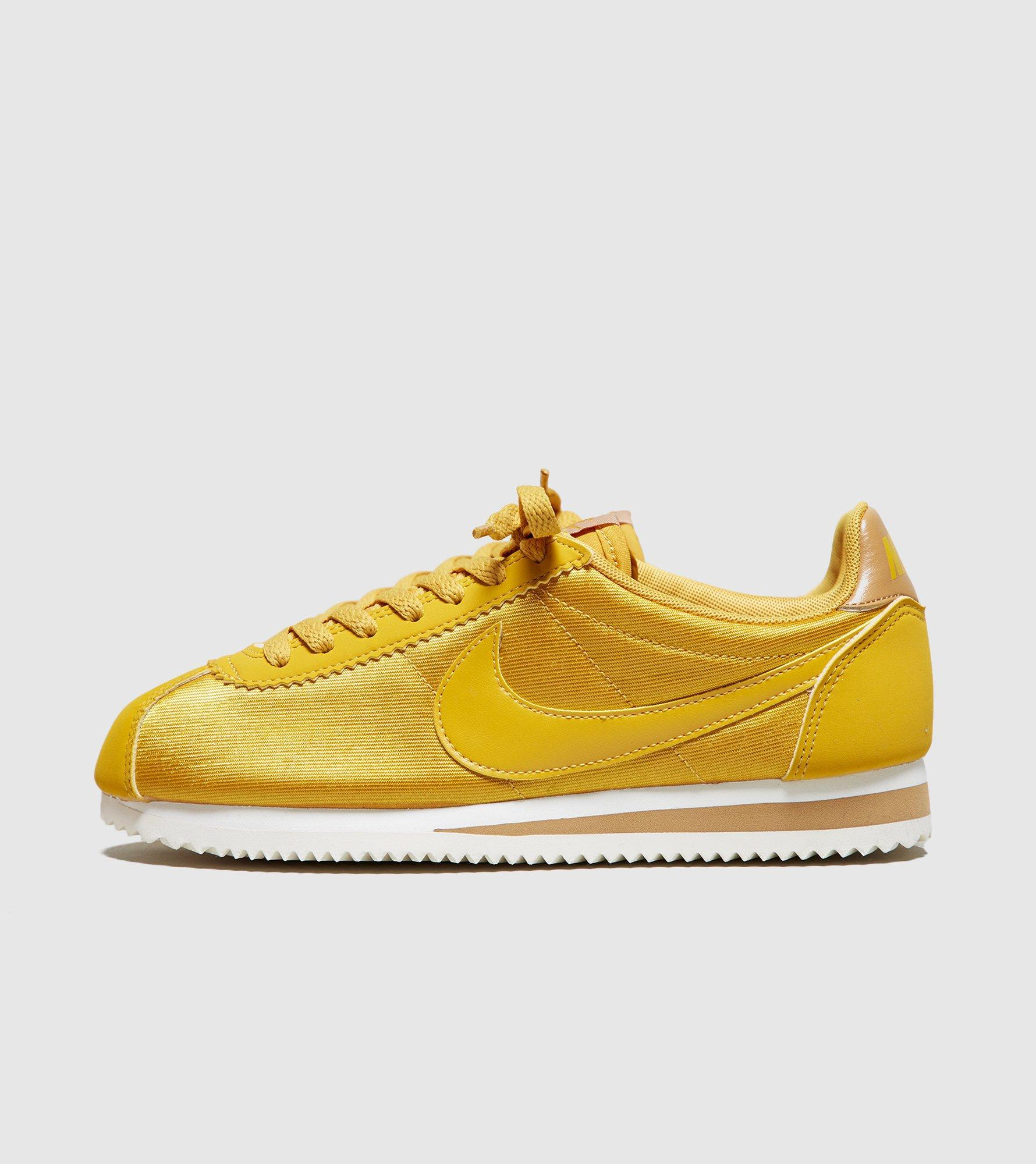 nike cortez womens yellow