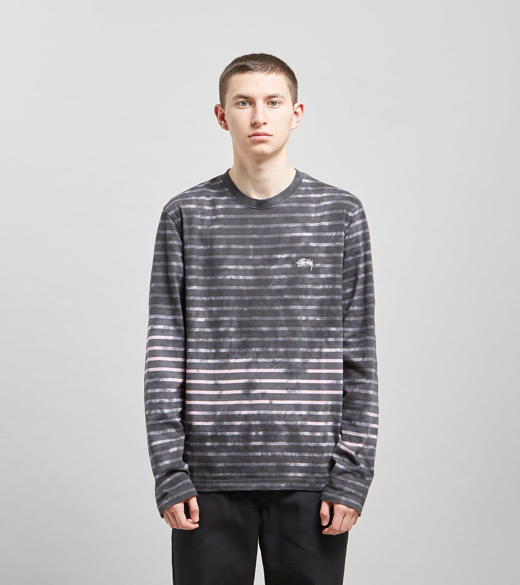 580378be3 Lyst - Stussy Bleach Stripe Long Sleeved T-shirt in Gray for Men