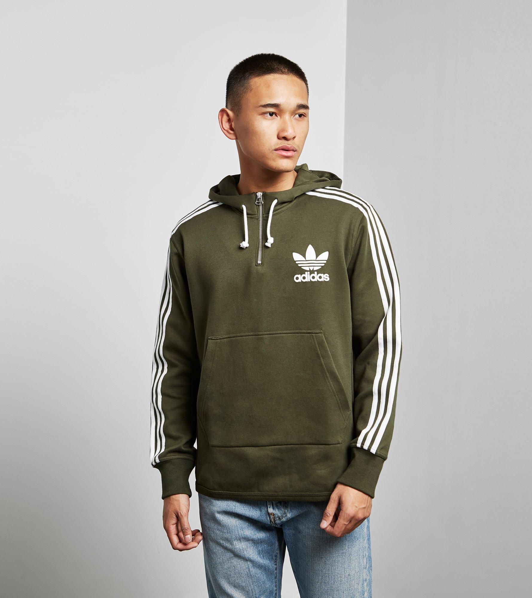 Adidas Originals Adc Half Zip Hoody in Black for Men Lyst