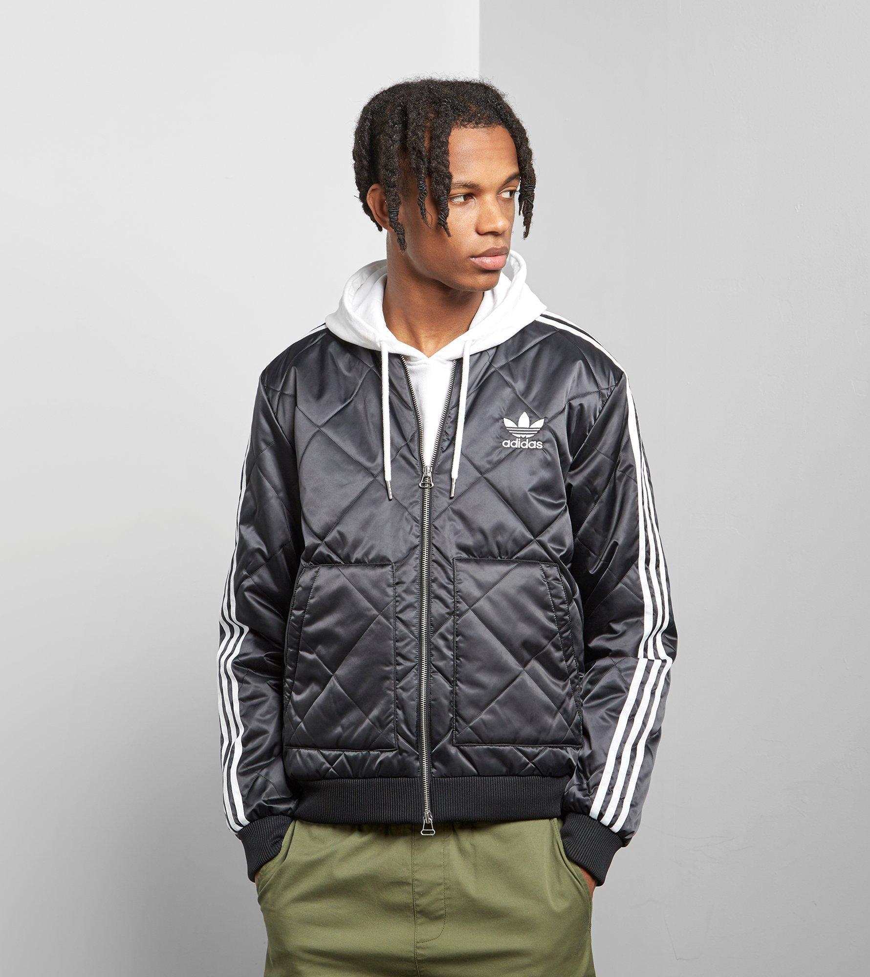 61fb41d100 Adidas Originals Black Sst Quilted Jacket for men