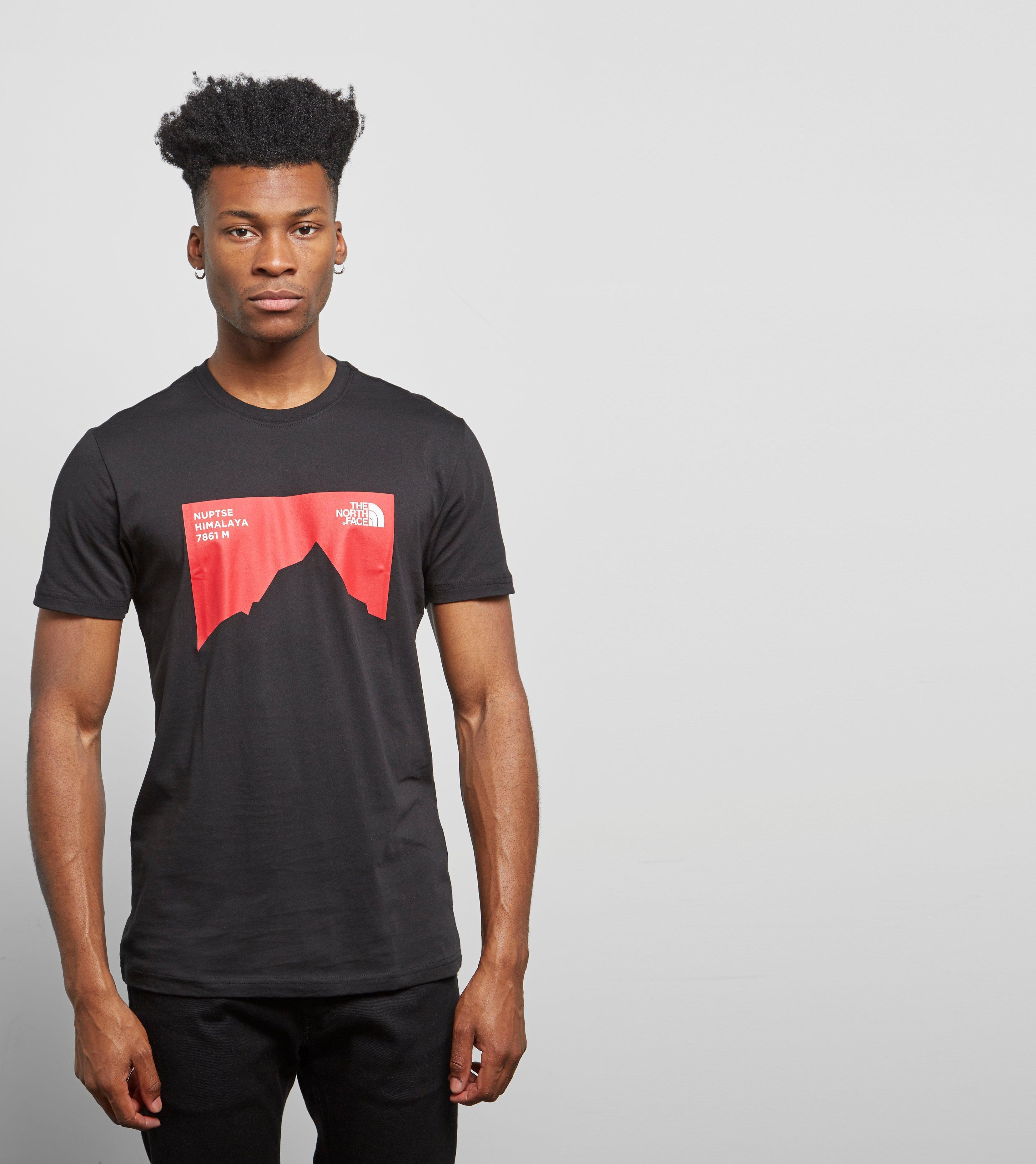 Lyst - The North Face Nuptse Celebration T-shirt in Black for Men 1c47d7e2d