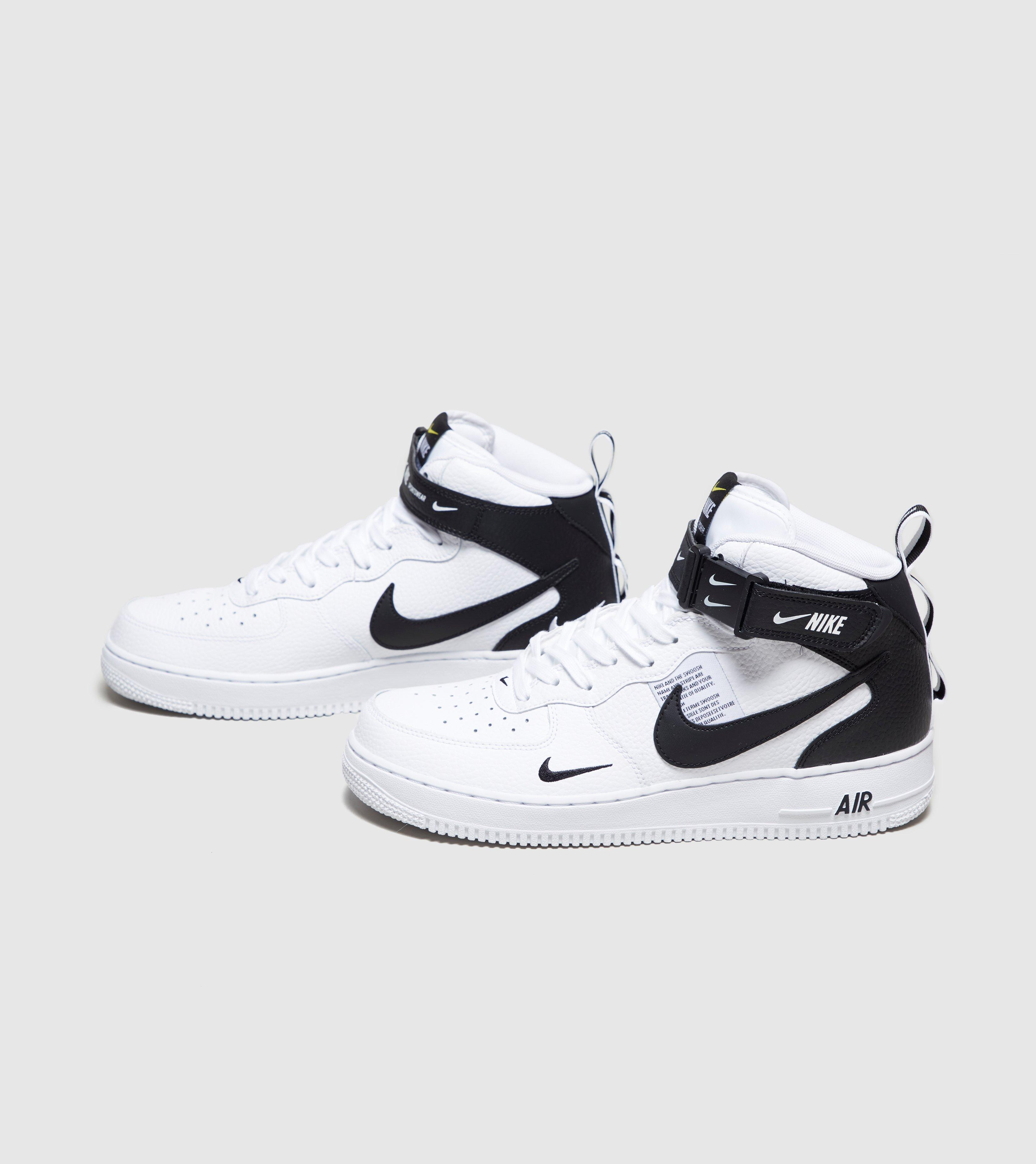 best service e7e47 b6f97 Men's White Air Force 1 Utility Mid `07 Lv8