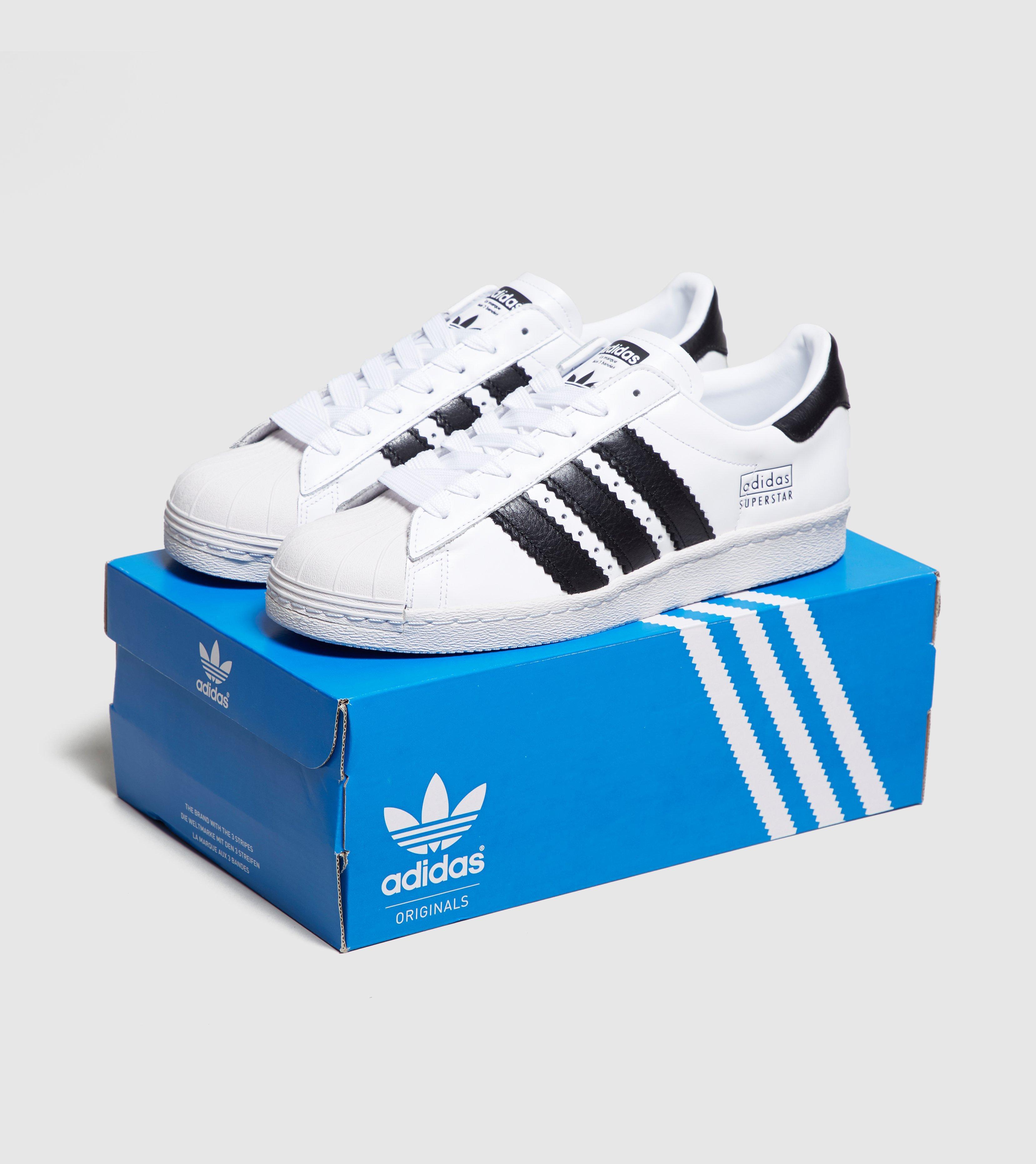 Adidas Originals White Superstar Fat Stripes for men