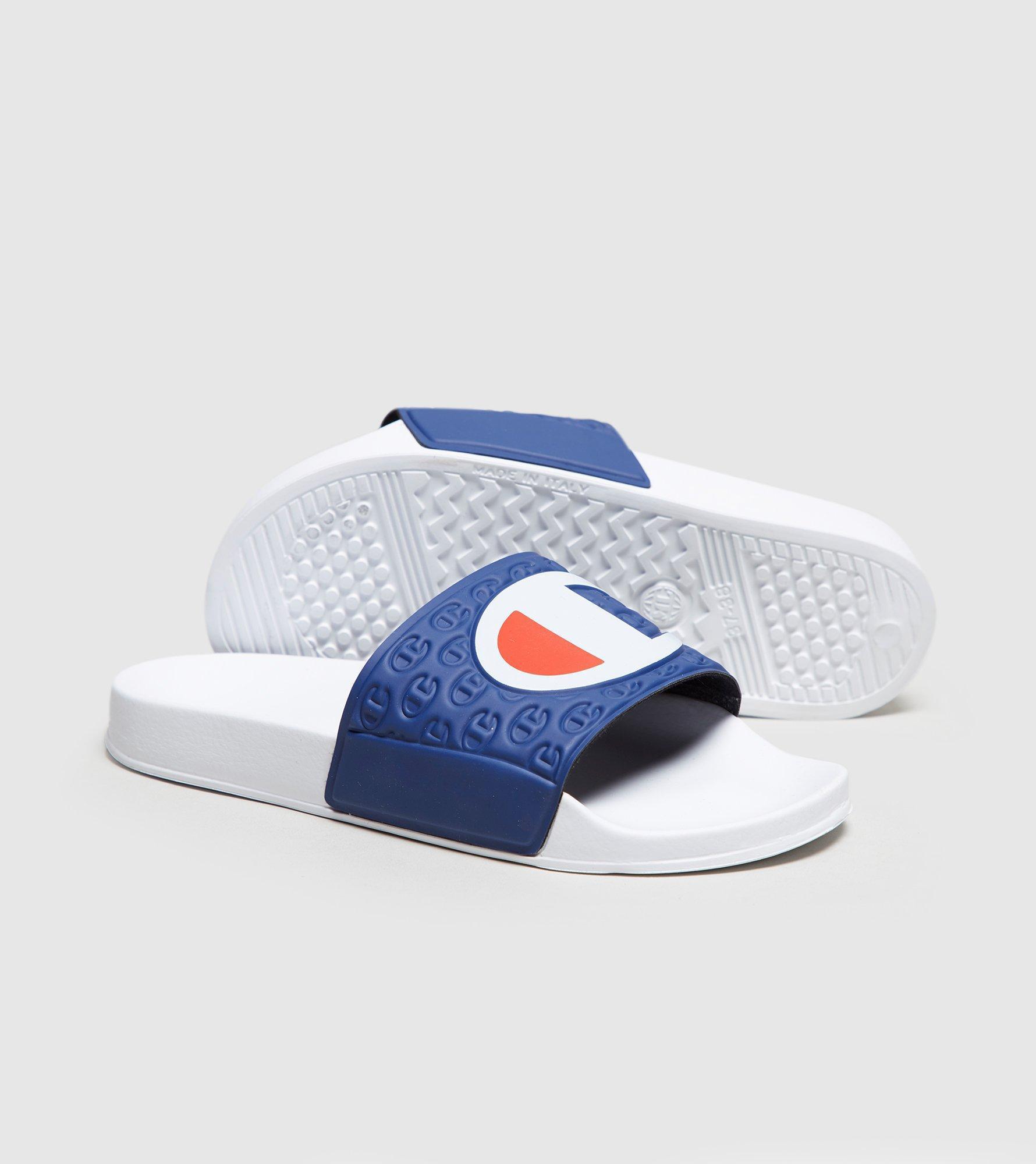 e4d3e1e667478 Lyst - Champion Slides Women s in Blue