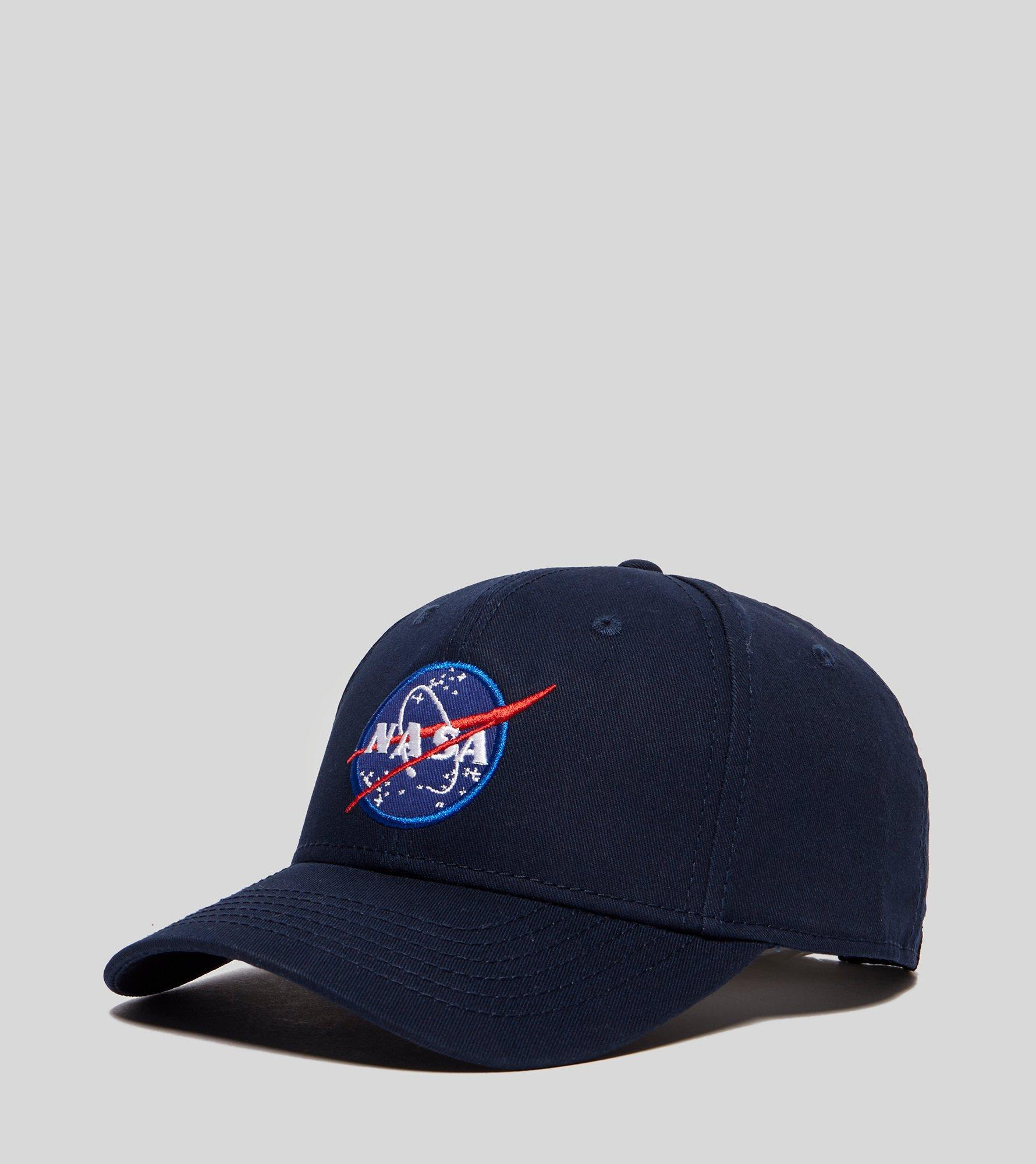 bf1594fea Alpha Industries Cotton Nasa Peak Cap in Blue for Men - Lyst